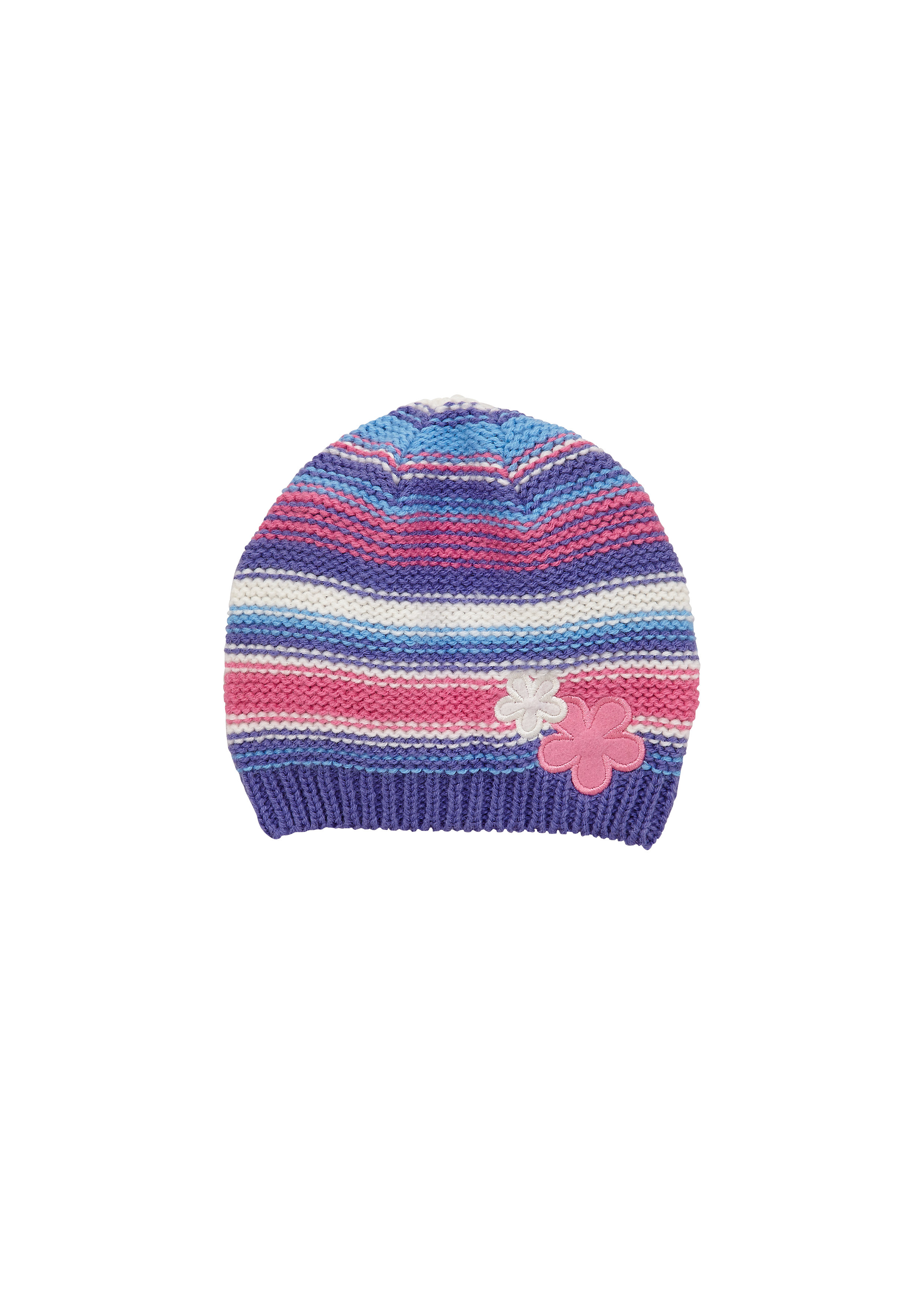Mothercare | Girls Knitted Flower Beanie Hat - Green