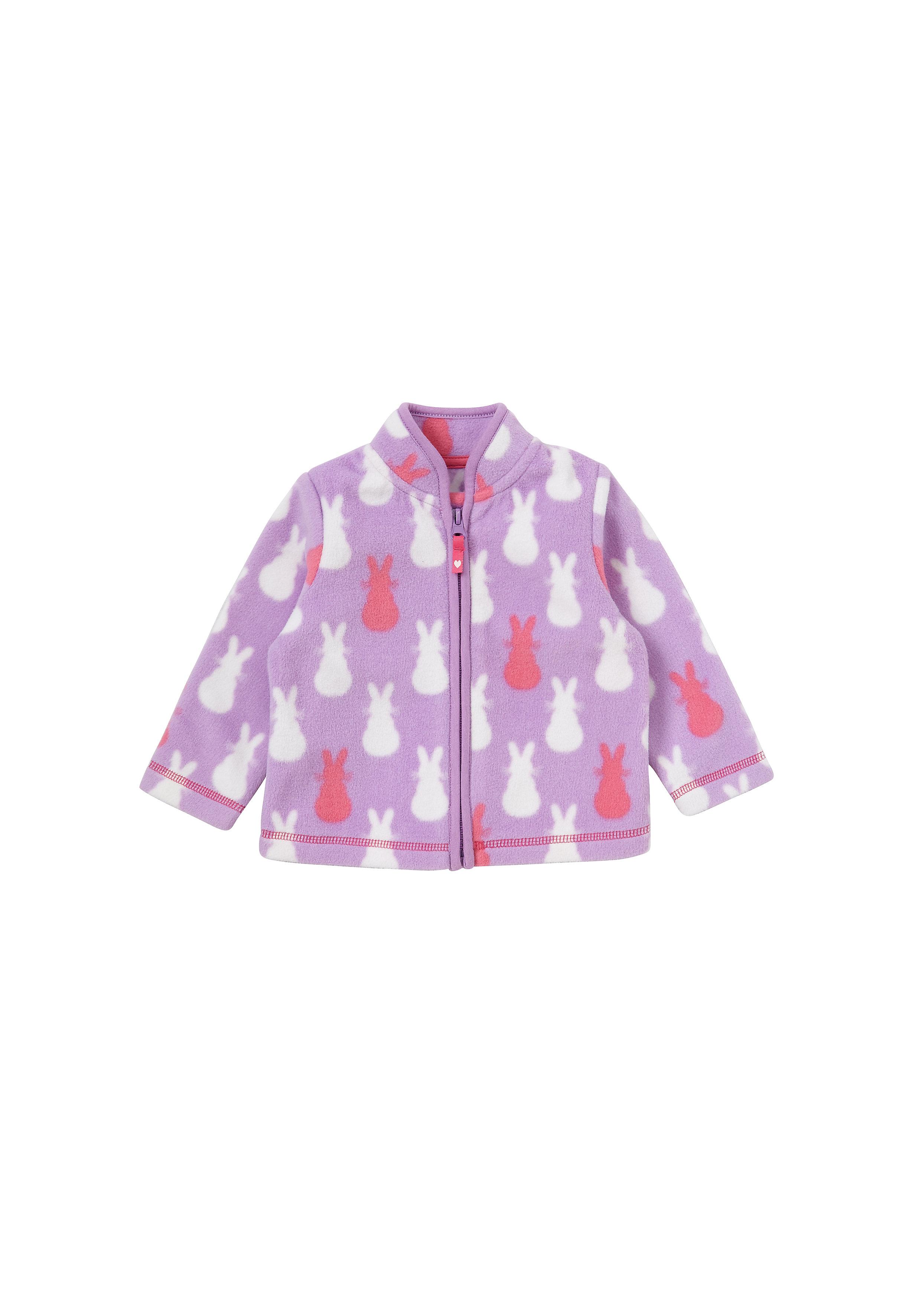 Mothercare | Girls Full Sleeves Fleece Jacket Bunny Design - Purple