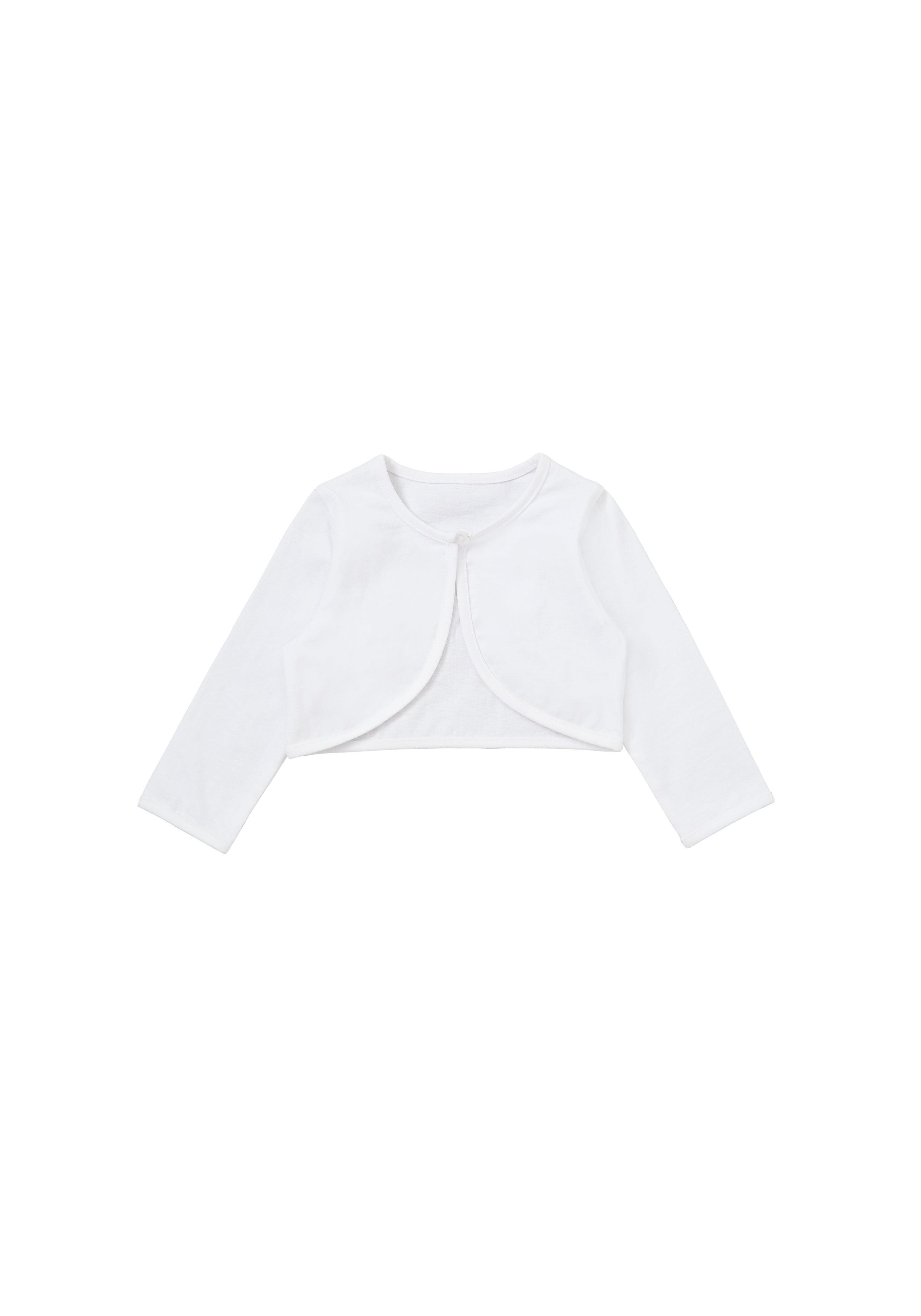 Mothercare | Girls Jersey Bolero - White