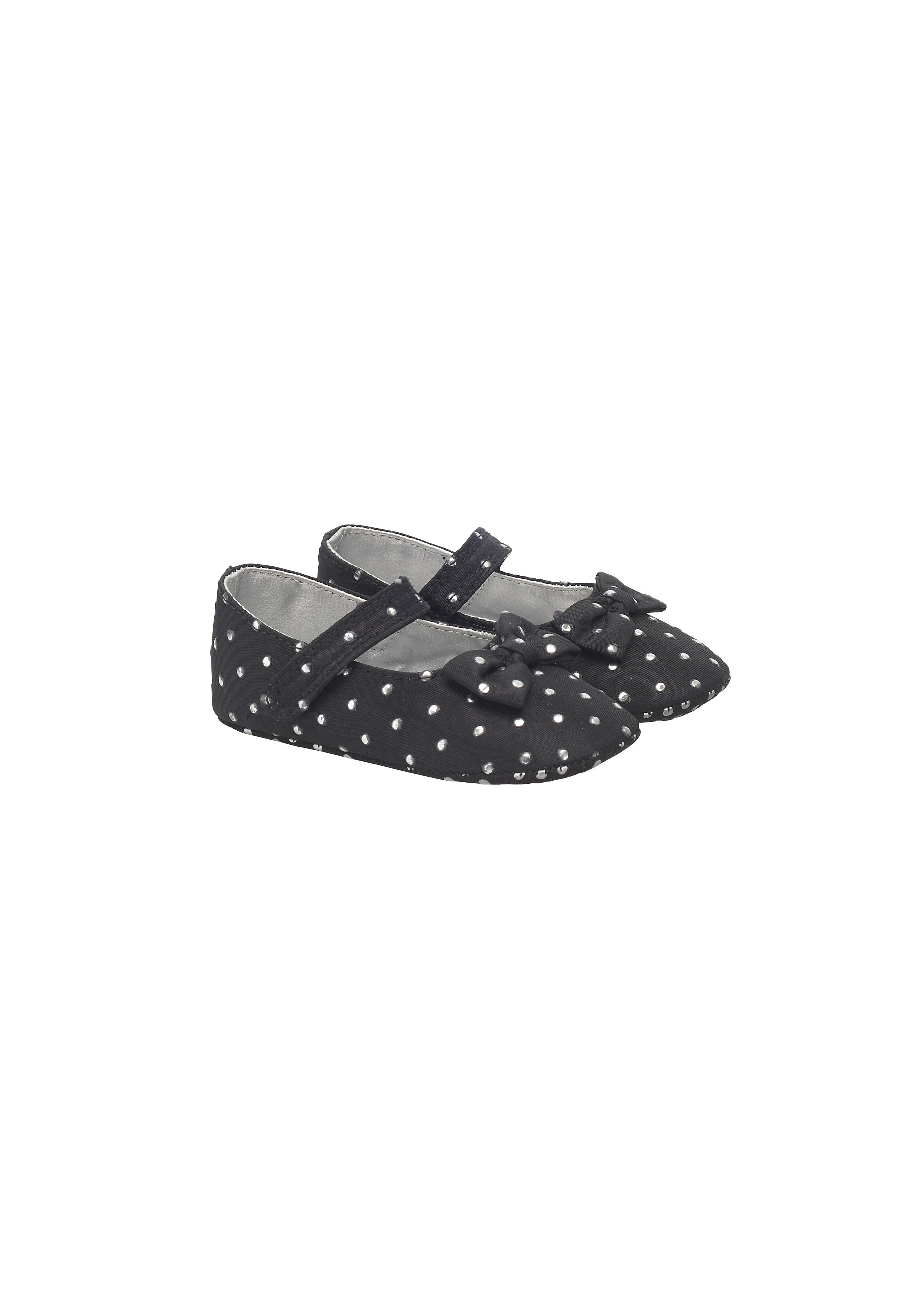 Mothercare | Girls Studded Shoes - Black