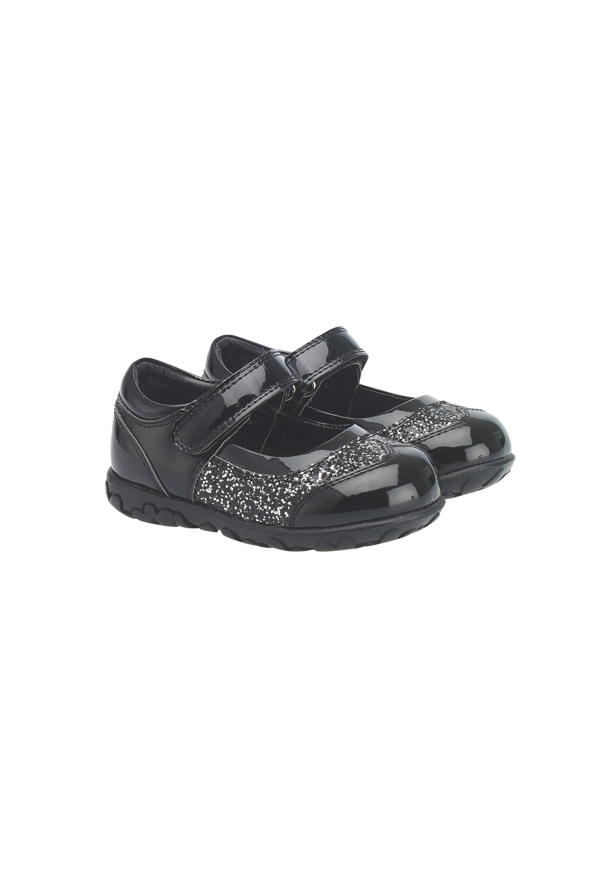 Mothercare | Girls Glitter Shoes - Black