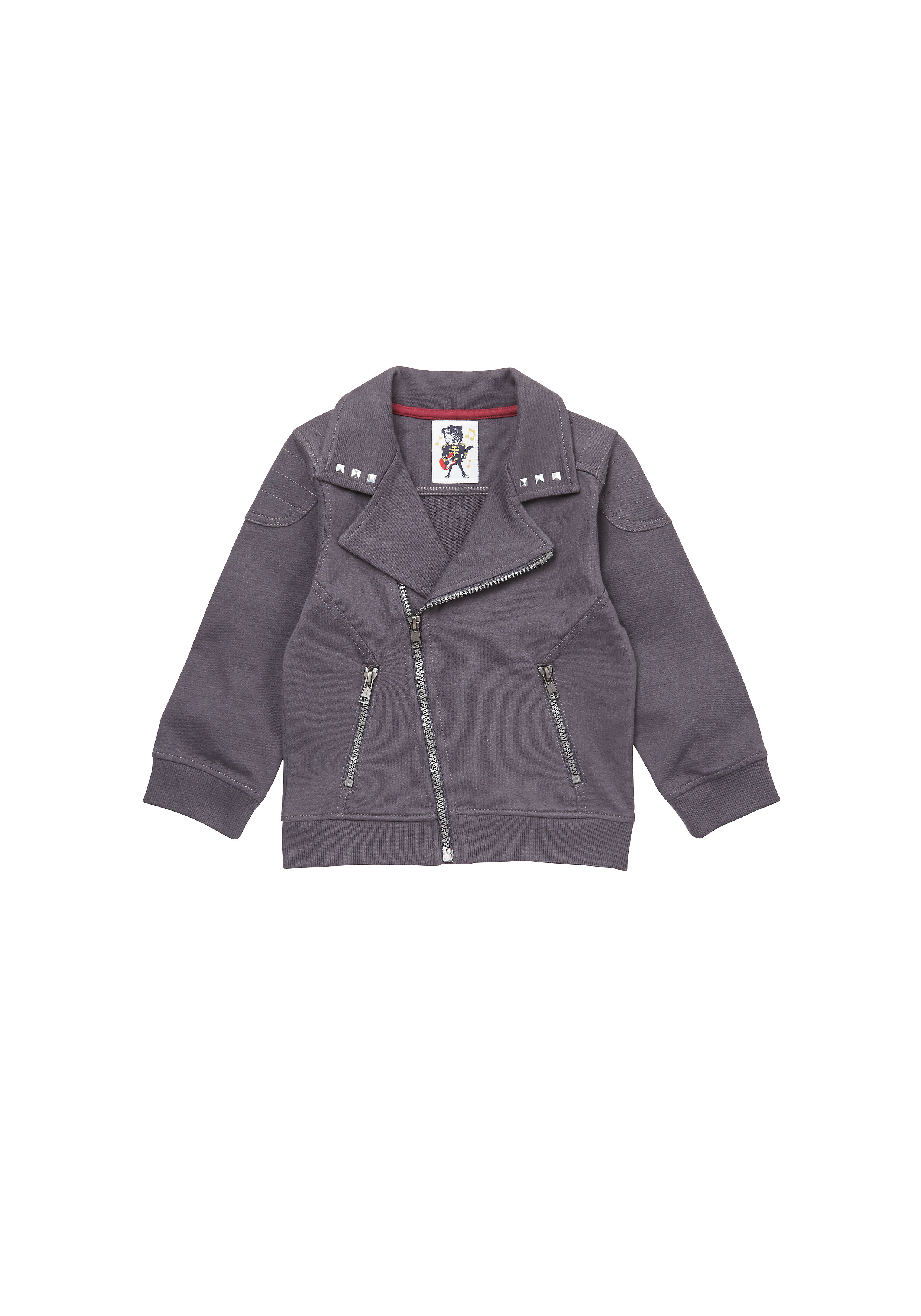Mothercare | Boys Full Sleeves Jacket Asymmetrical Zip Opening - Charcoal
