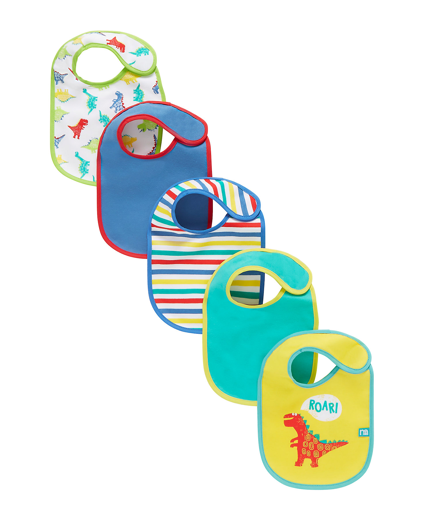 Mothercare   Multicoloured Printed Bibs - Set of 5