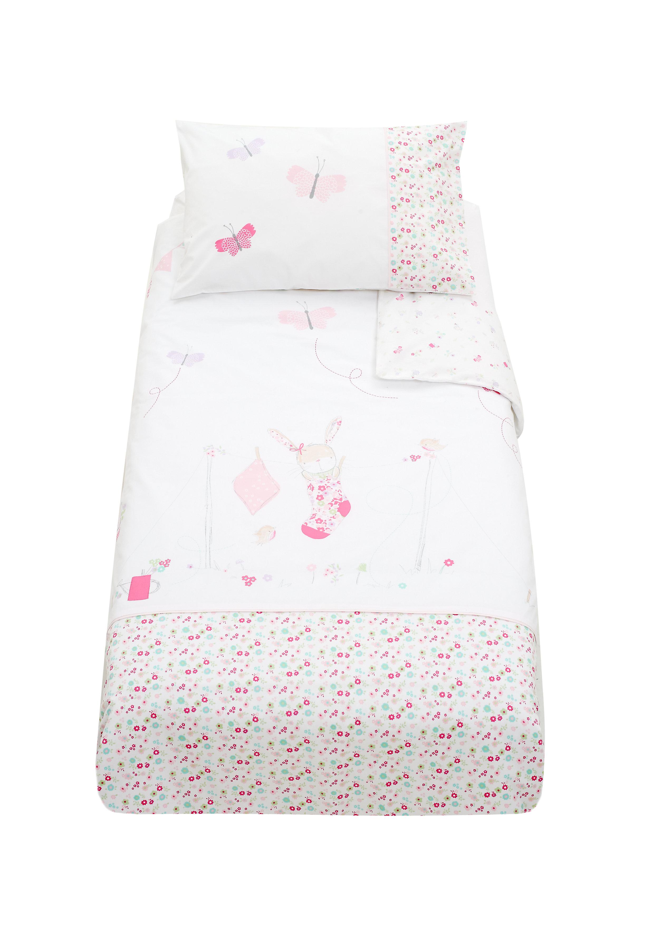 Mothercare   Mothercare My Little Garden Duvet Set Pink