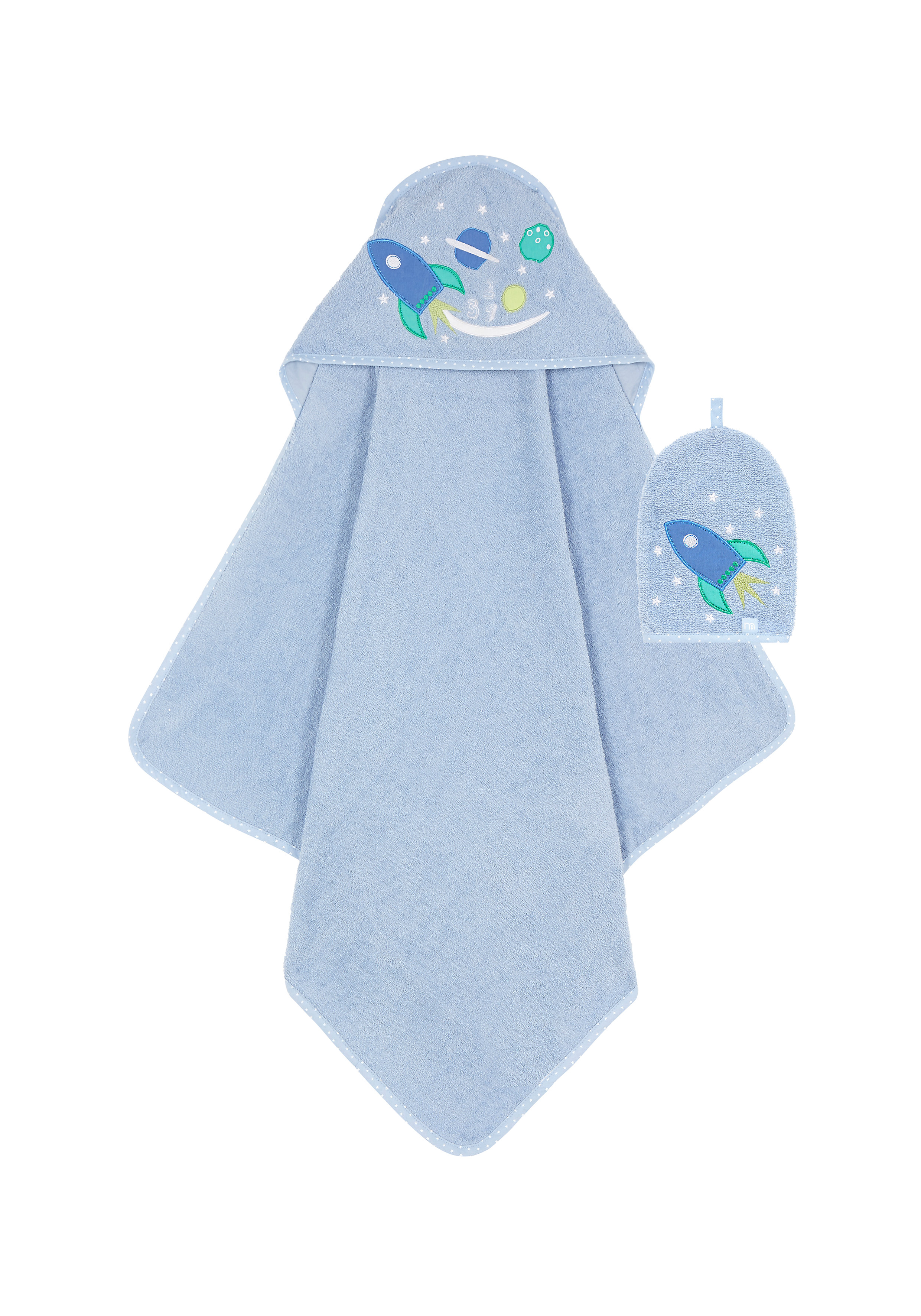 Mothercare | Mothercare Space Dreamer Cuddle ' Dry With Wash Mitten