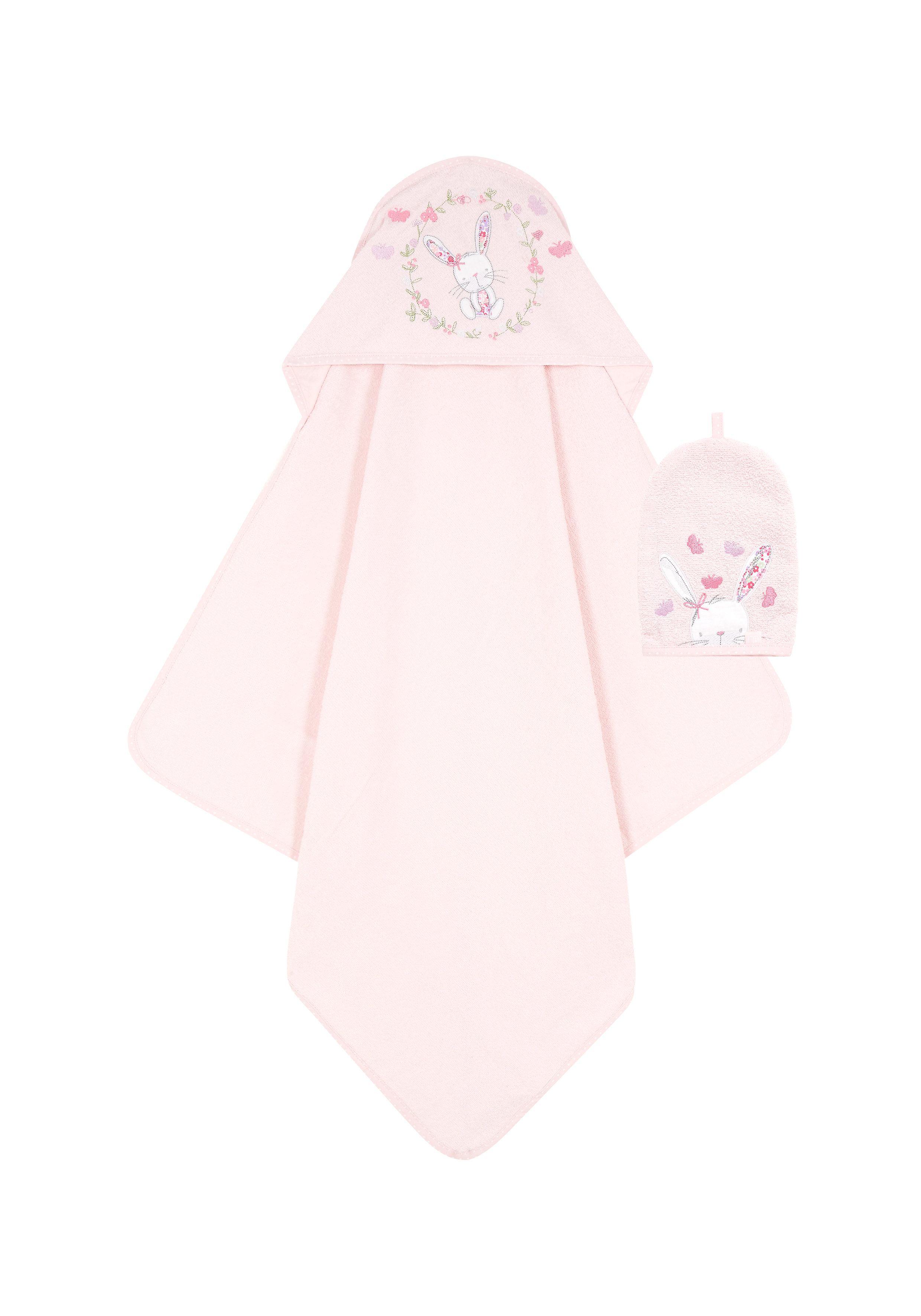 Mothercare | Mothercare My Little Garden Cuddle ' Dry With Wash Mitten