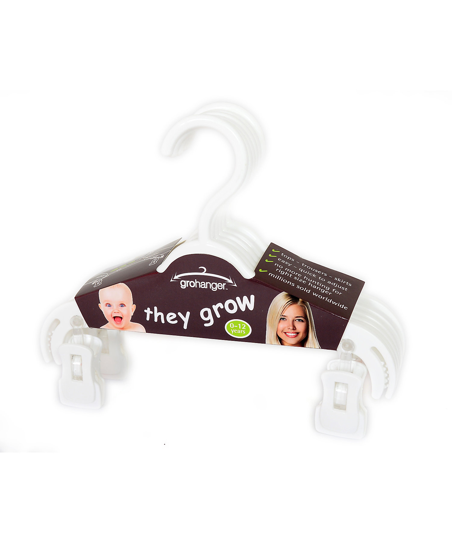 Mothercare | Mothercare Gro-Hangers Pack of 6 White