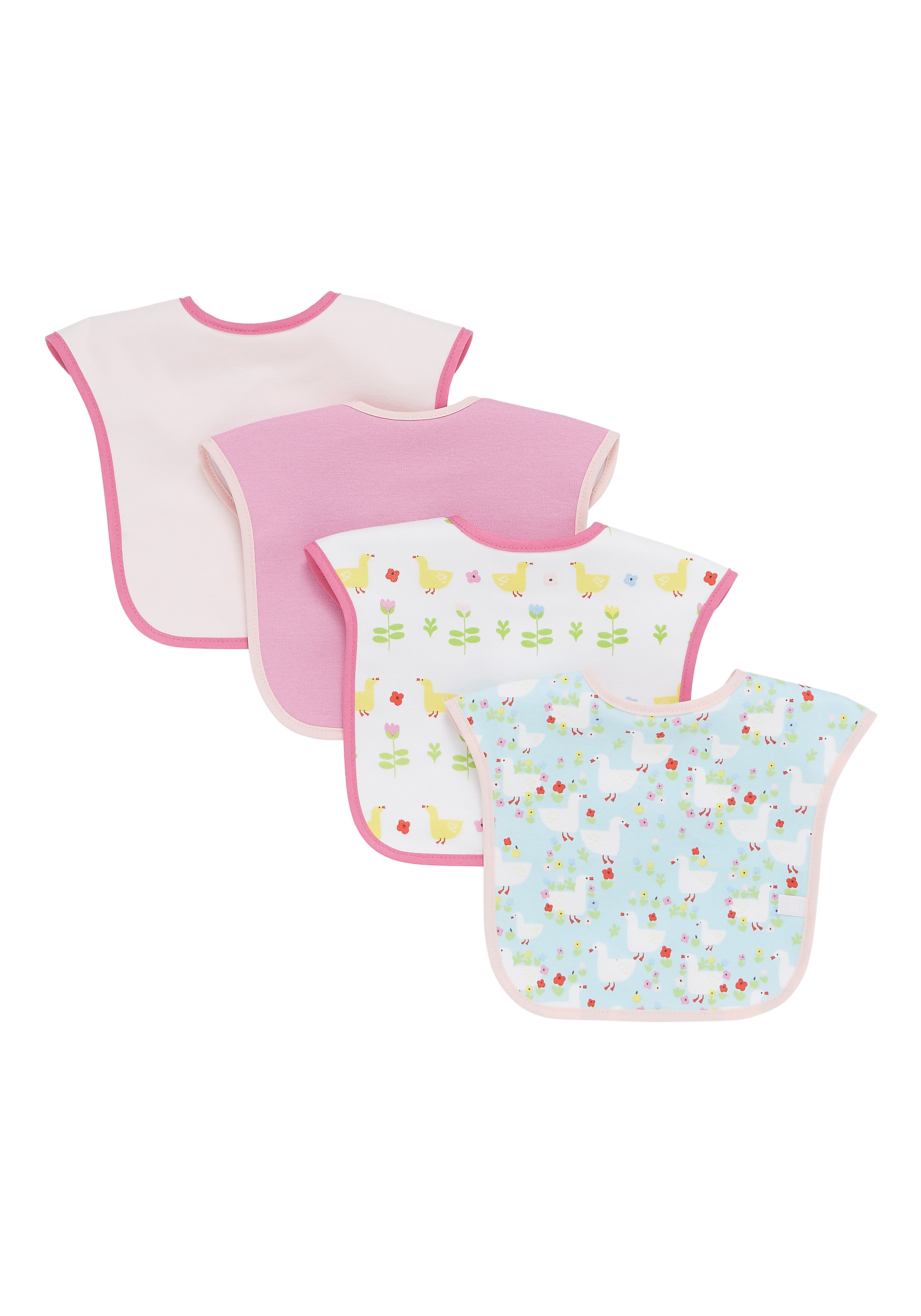 Mothercare   Mothercare Farm Toddler Bibs Pack of 4 Mutil