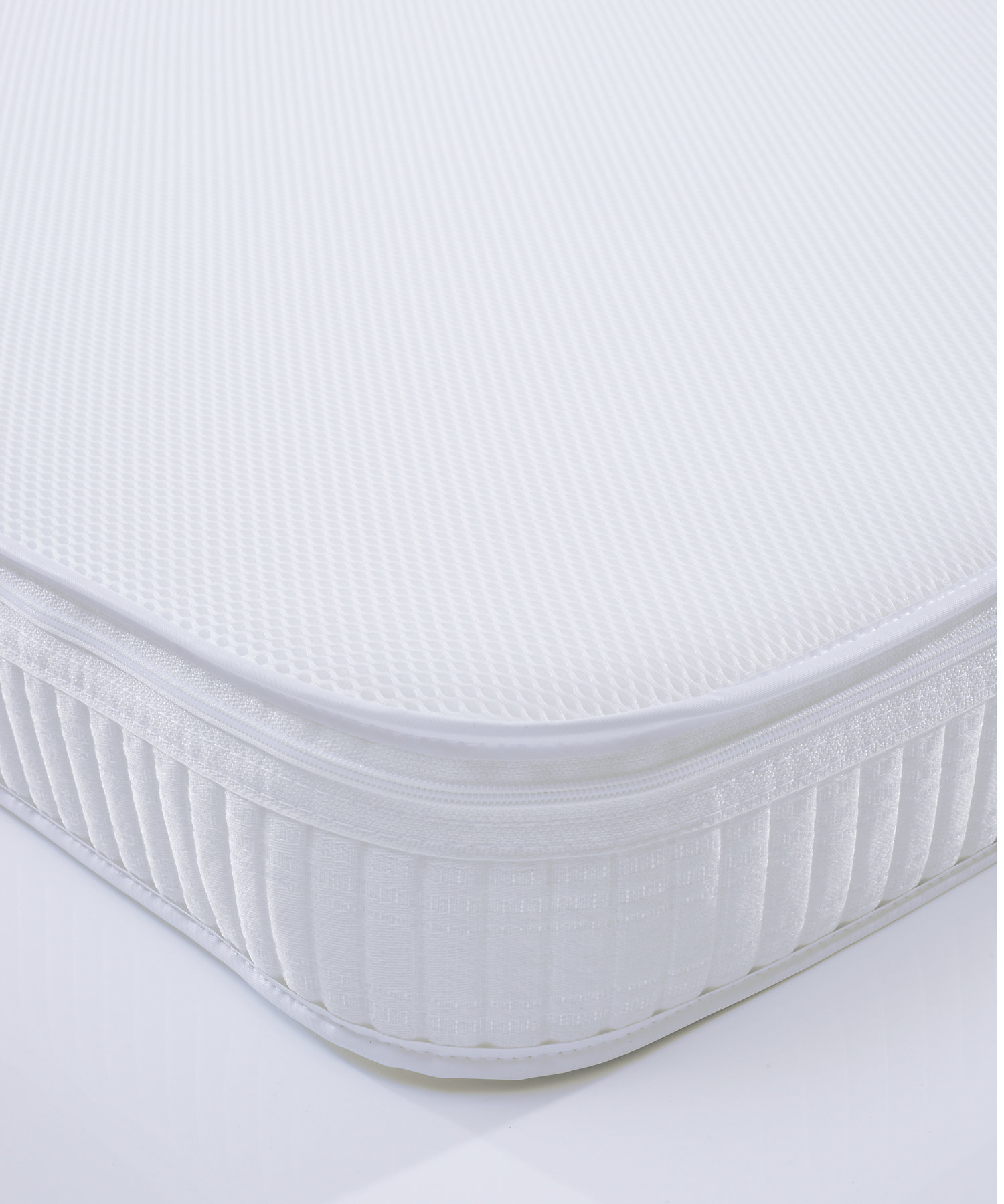 Mothercare | Mothercare Cot Bed Safeseal Foam Mattress With Spacetec And Coolmax Freshfx White