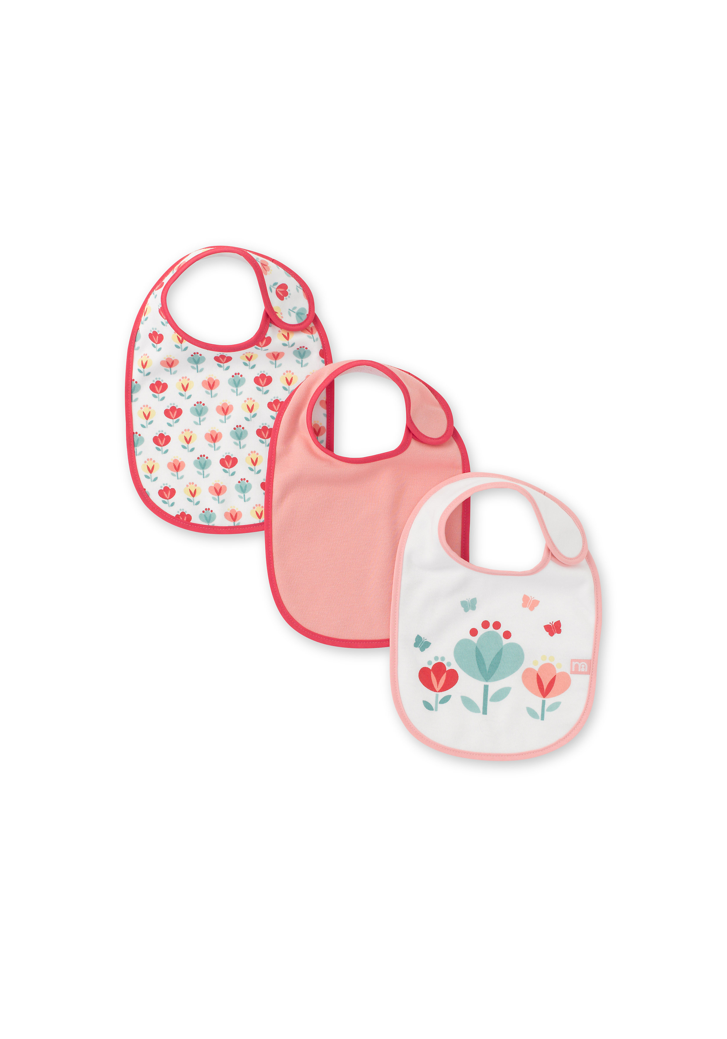 Mothercare   Mothercare Tulip Bibs Pack of 3 Multi