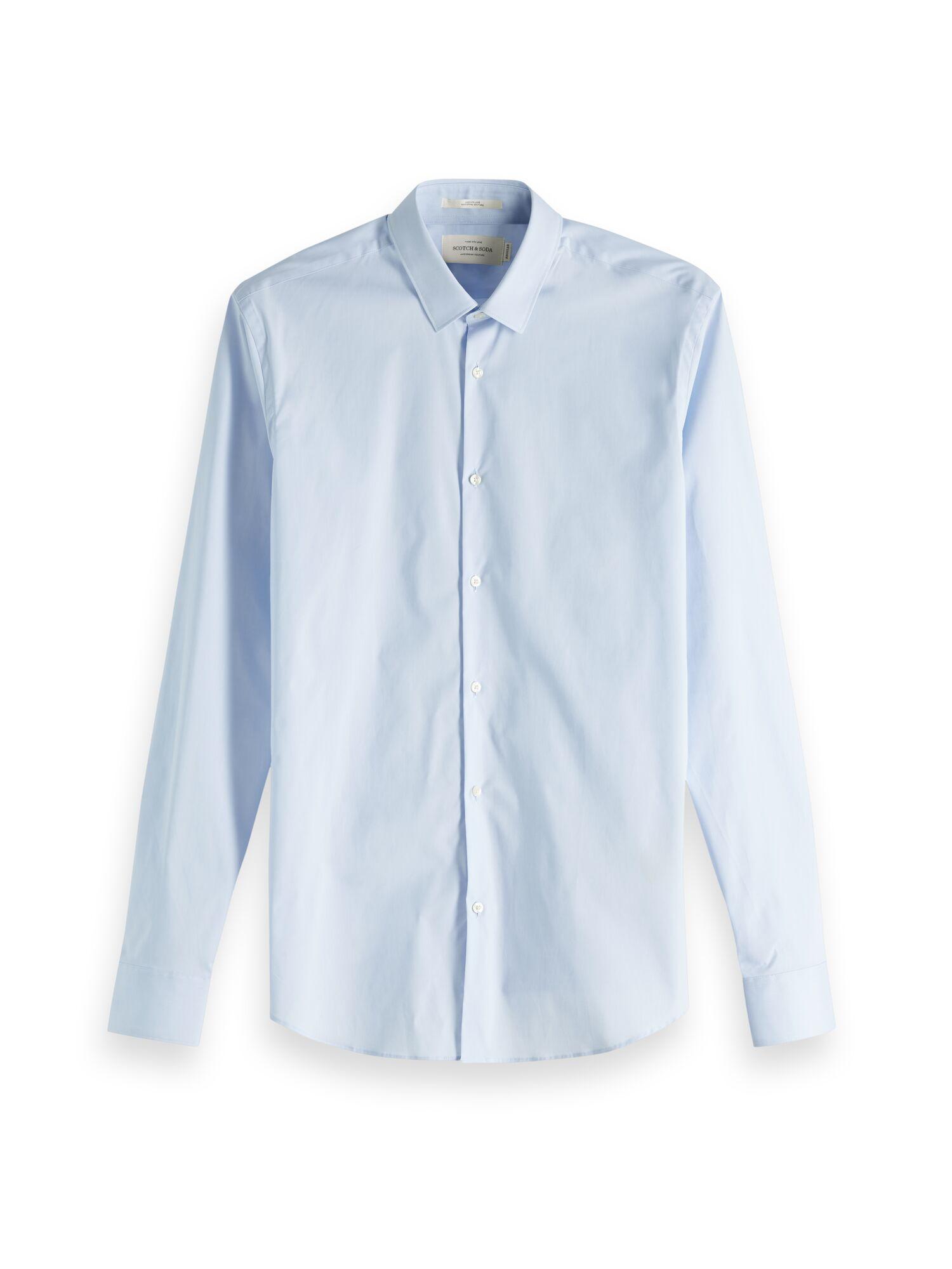 Scotch & Soda | Essentials - Classic elastane shirt slim fit classic collar