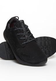 Superdry | Black/Black Men Indoor Sports Shoes