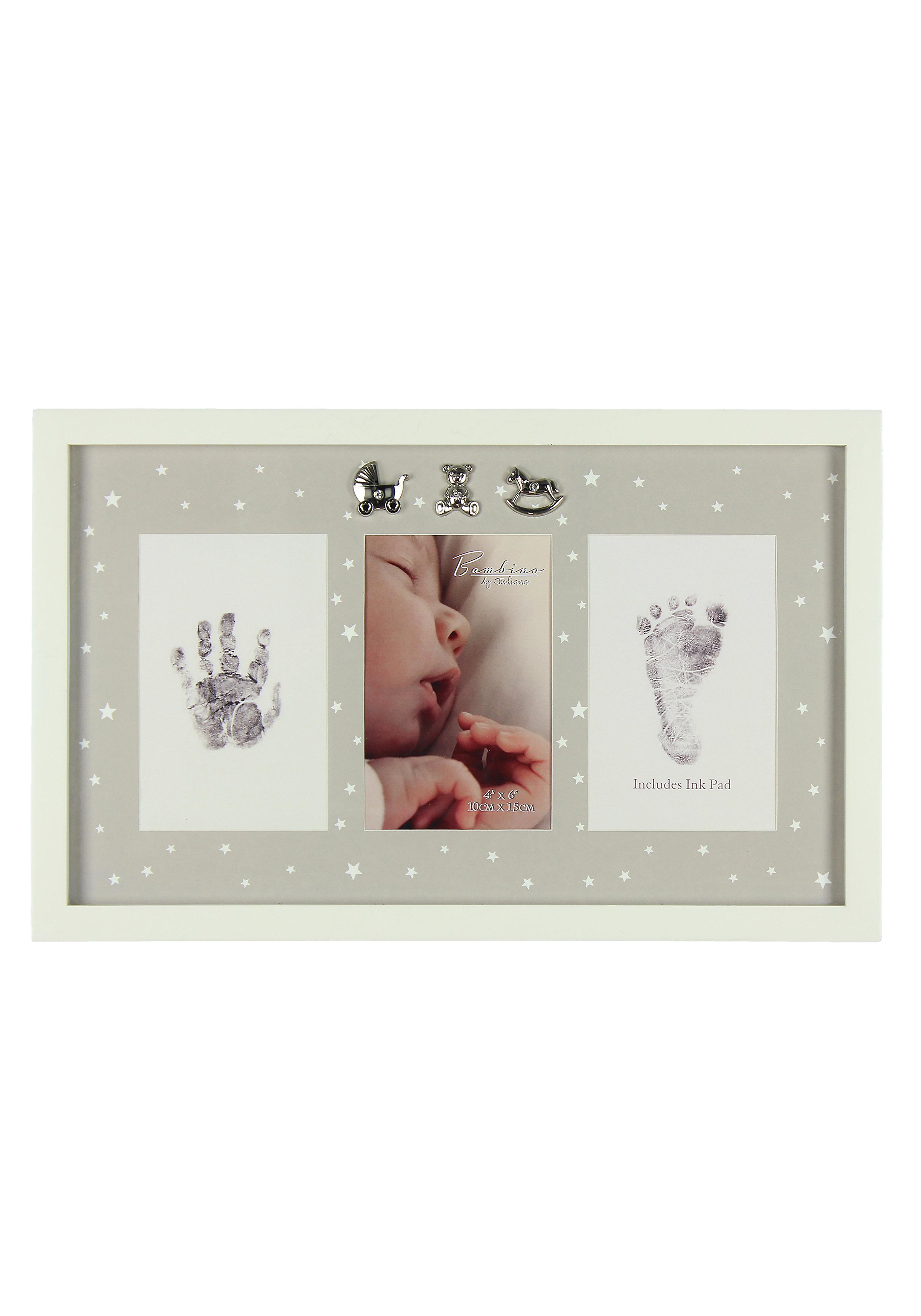 Mothercare | Mothercare Bambino Hand And Foot Print Frame Cream