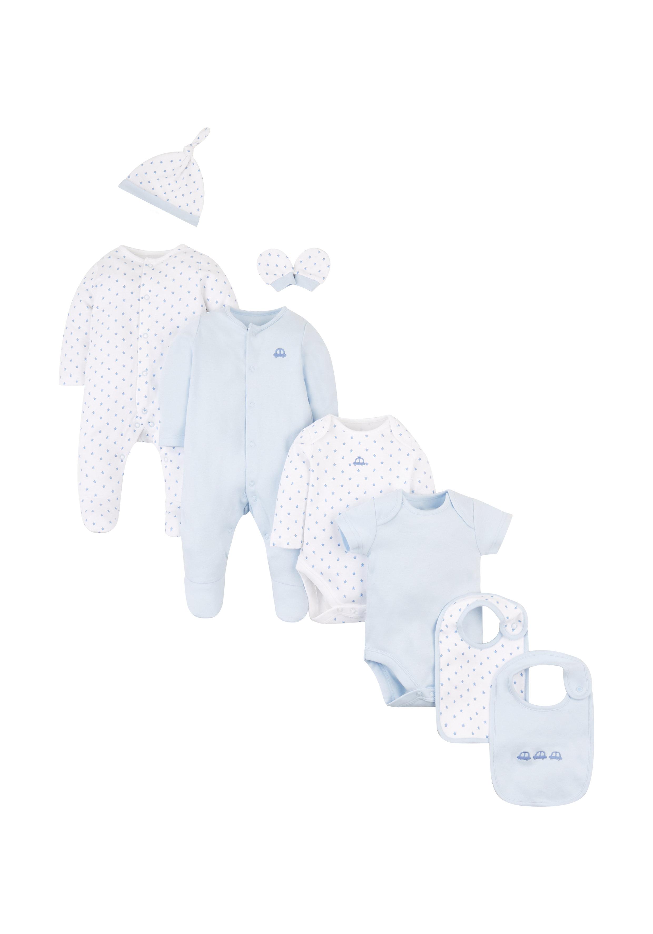 Mothercare   Boys 8 Piece Set Printed - White