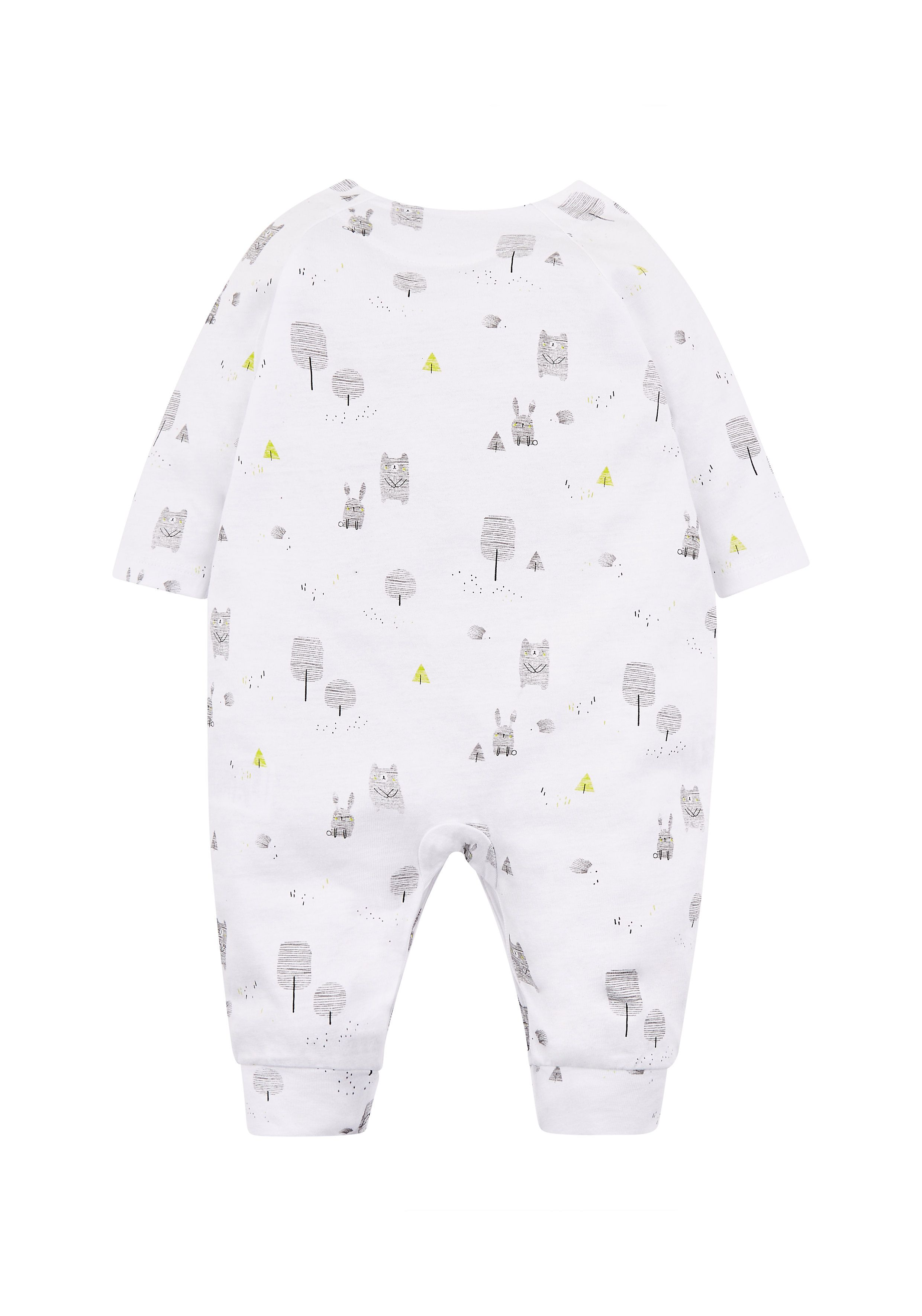 Mothercare | Unisex White Forest All In One - White