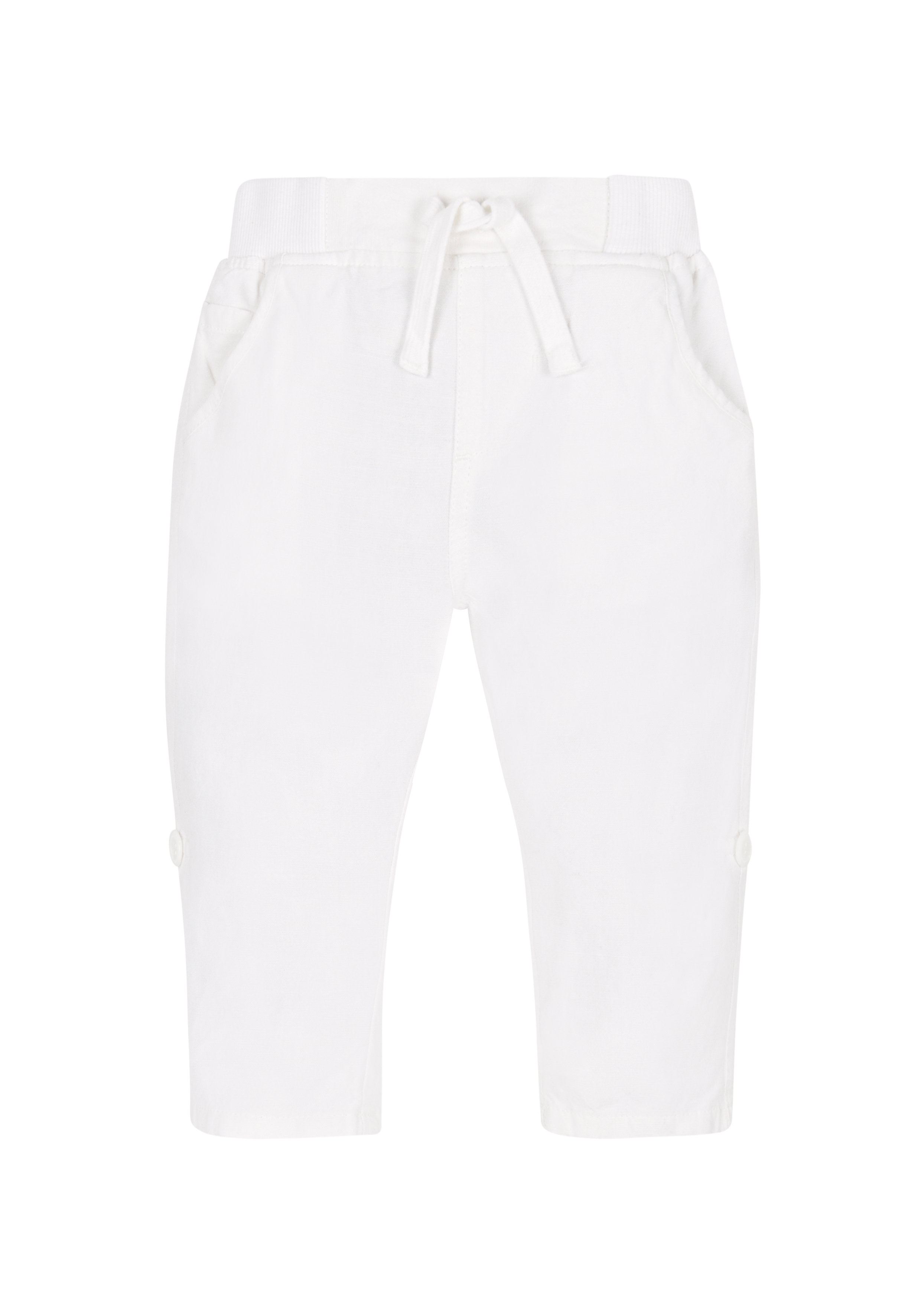 Mothercare | Boys Linen Roll Up Trousers - White