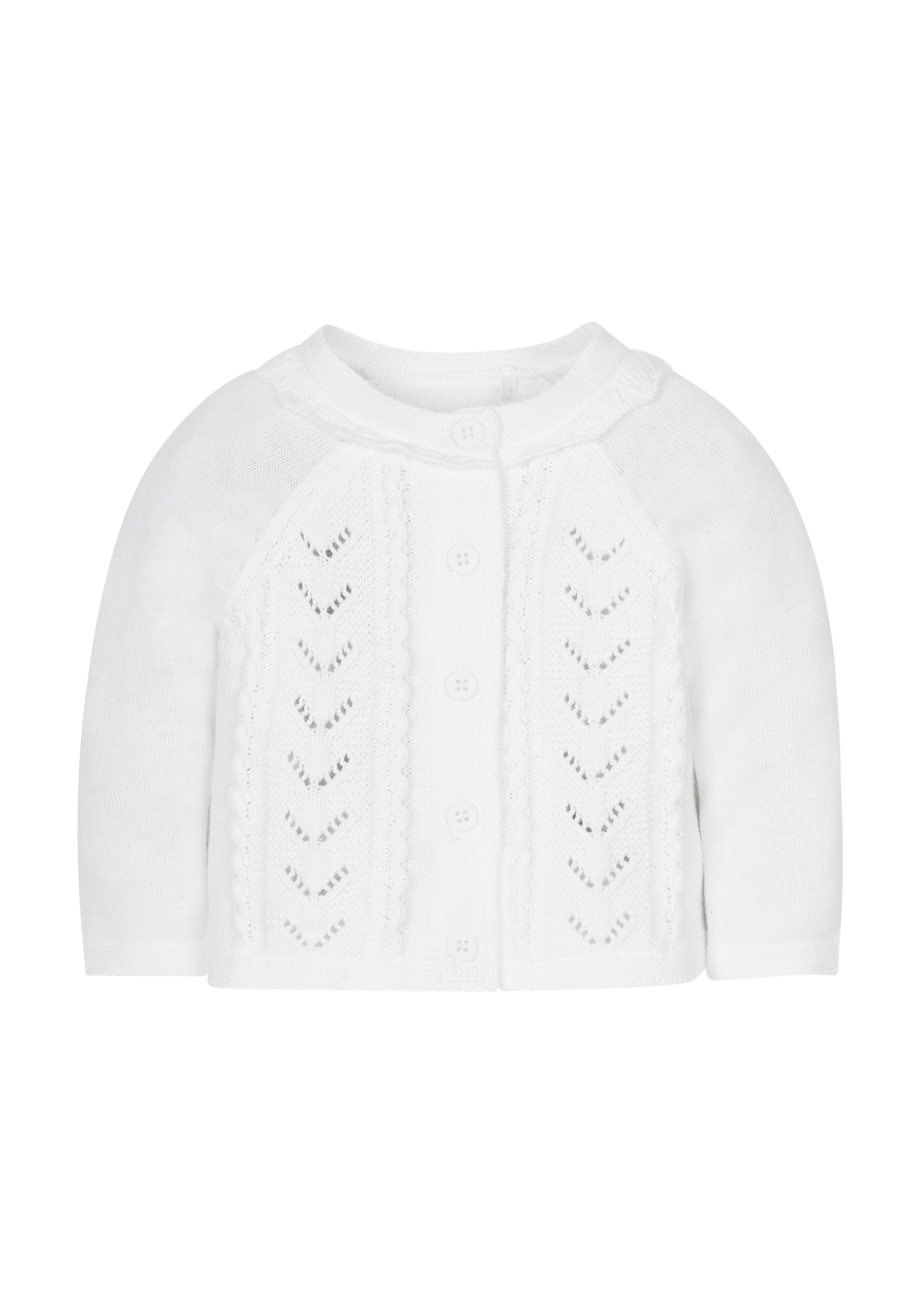 Mothercare | Girls Full Sleeves Cardigan - White