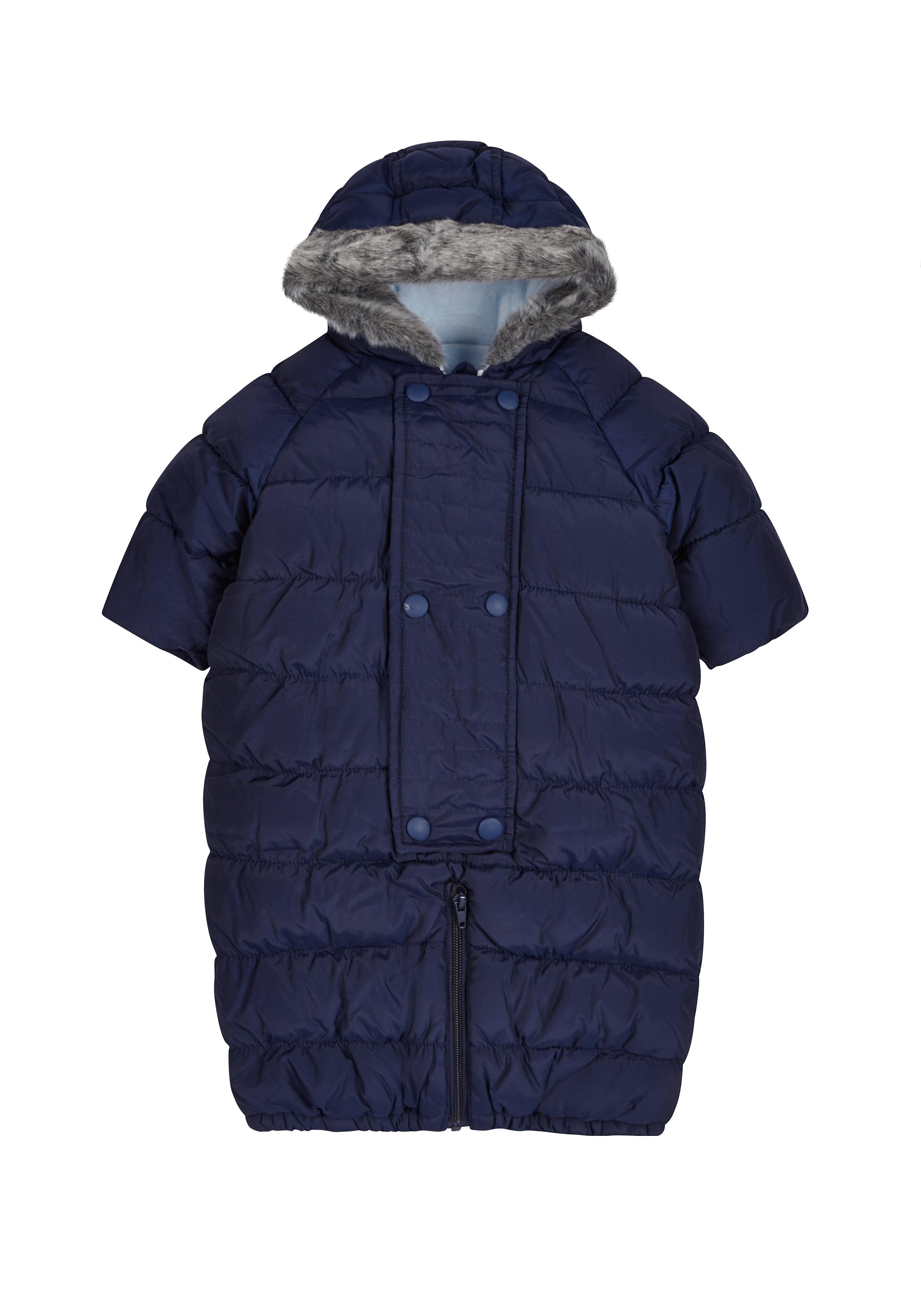 Mothercare | Boys Blue Converter Snowsuit - Navy
