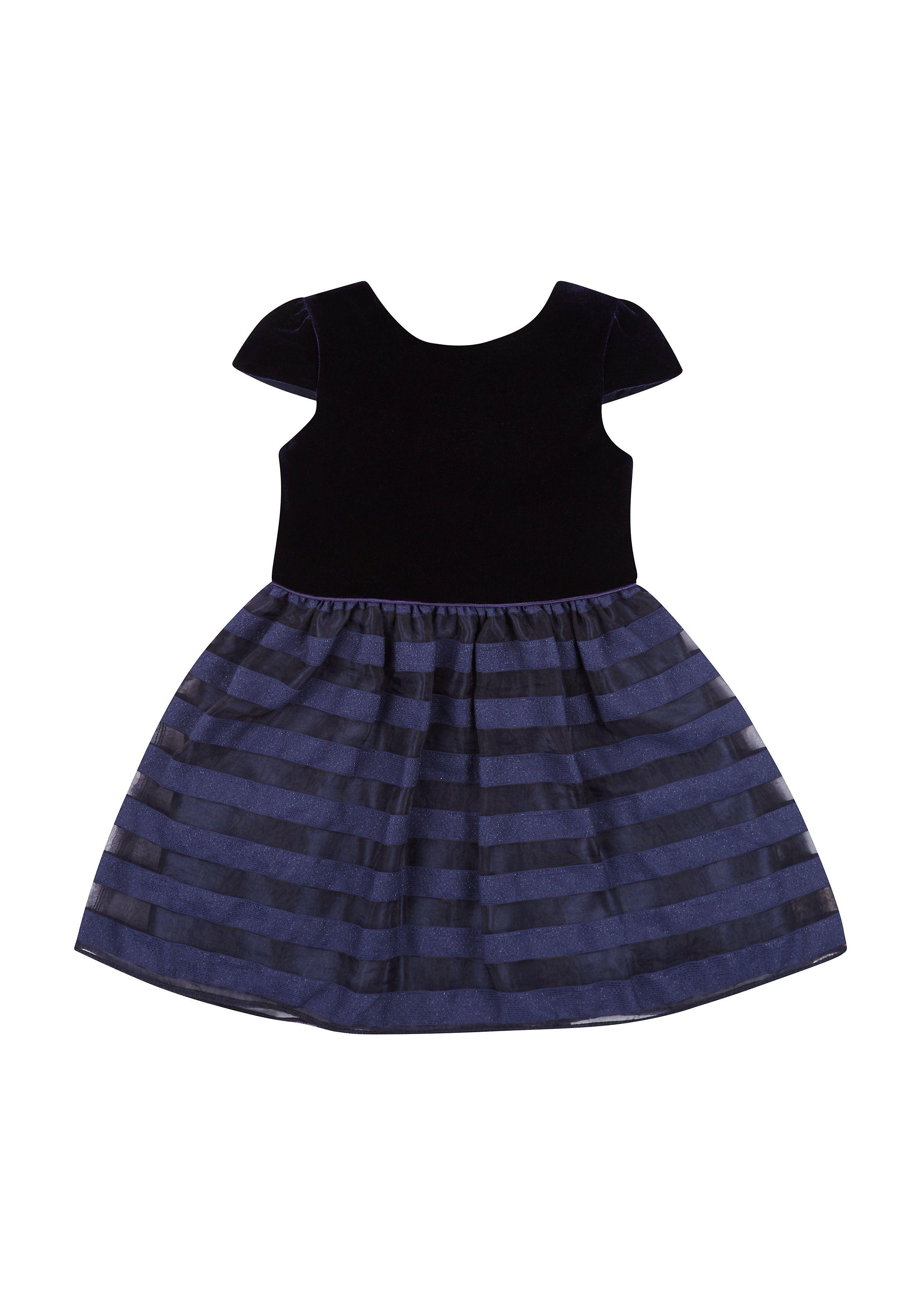 Mothercare | Navy Velvet Party Dress