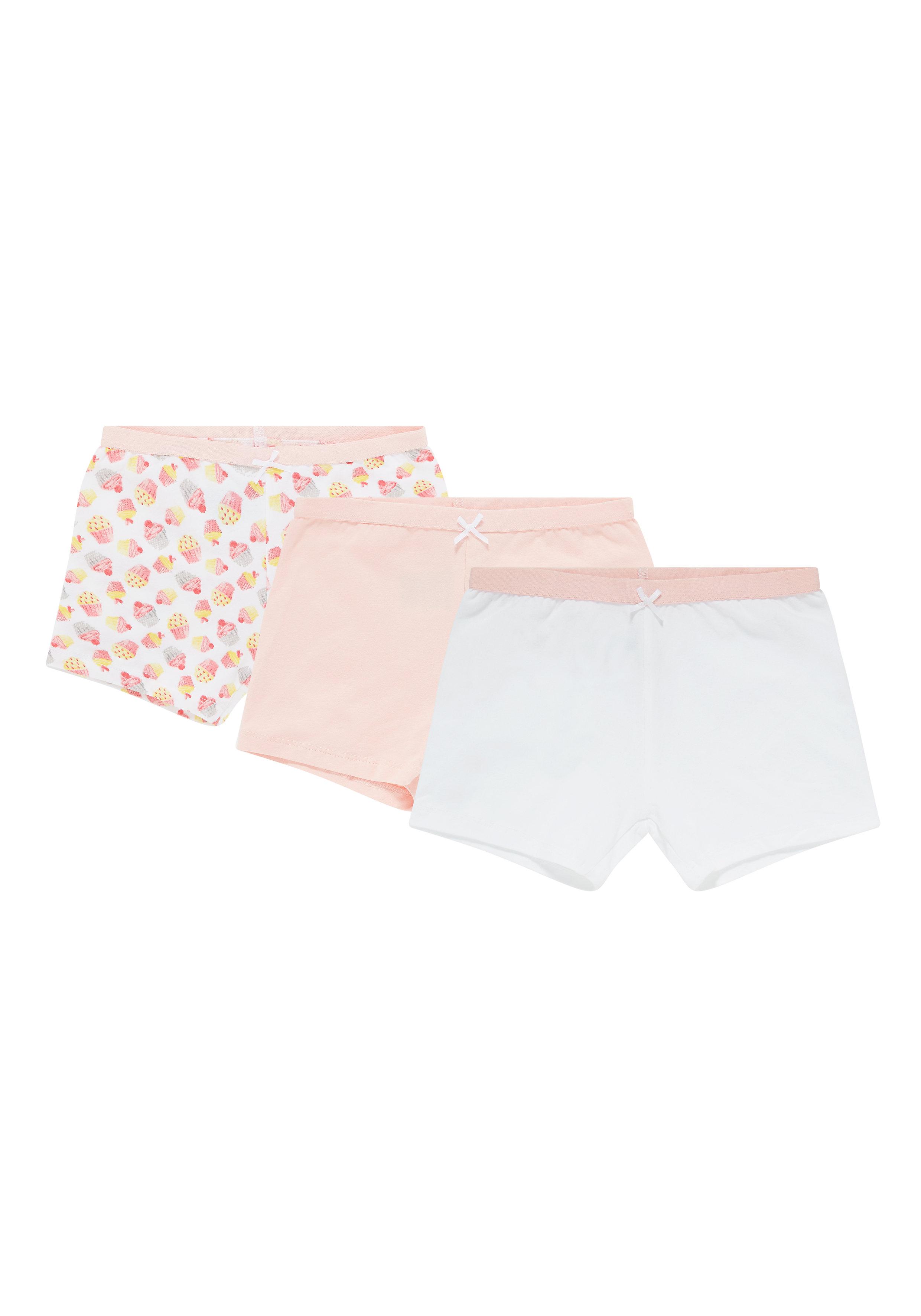 Mothercare | Girls Cupcake Shorts - 3 Pack - Pink