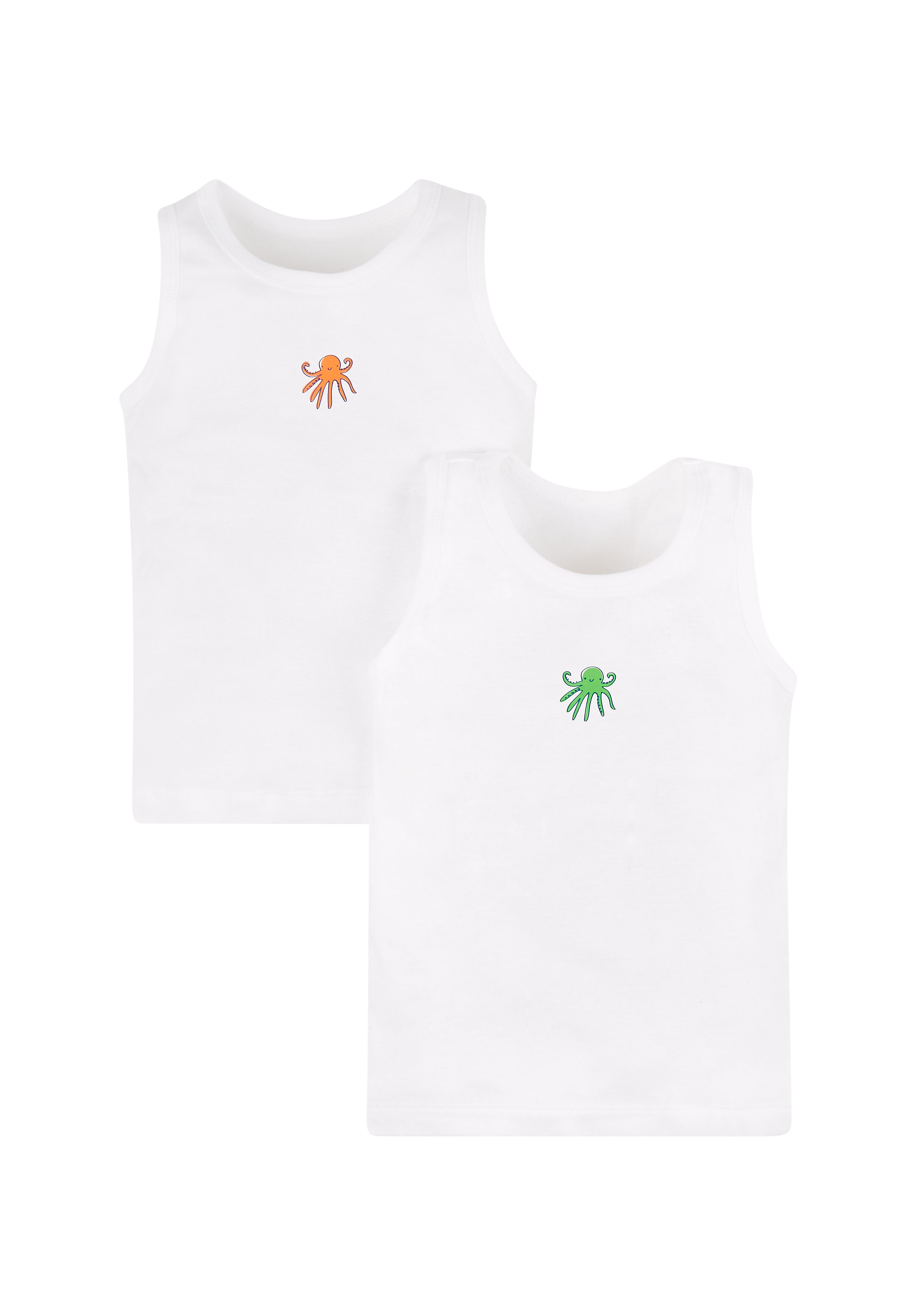 Mothercare   Boys Octopus Vests - 2 Pack - White