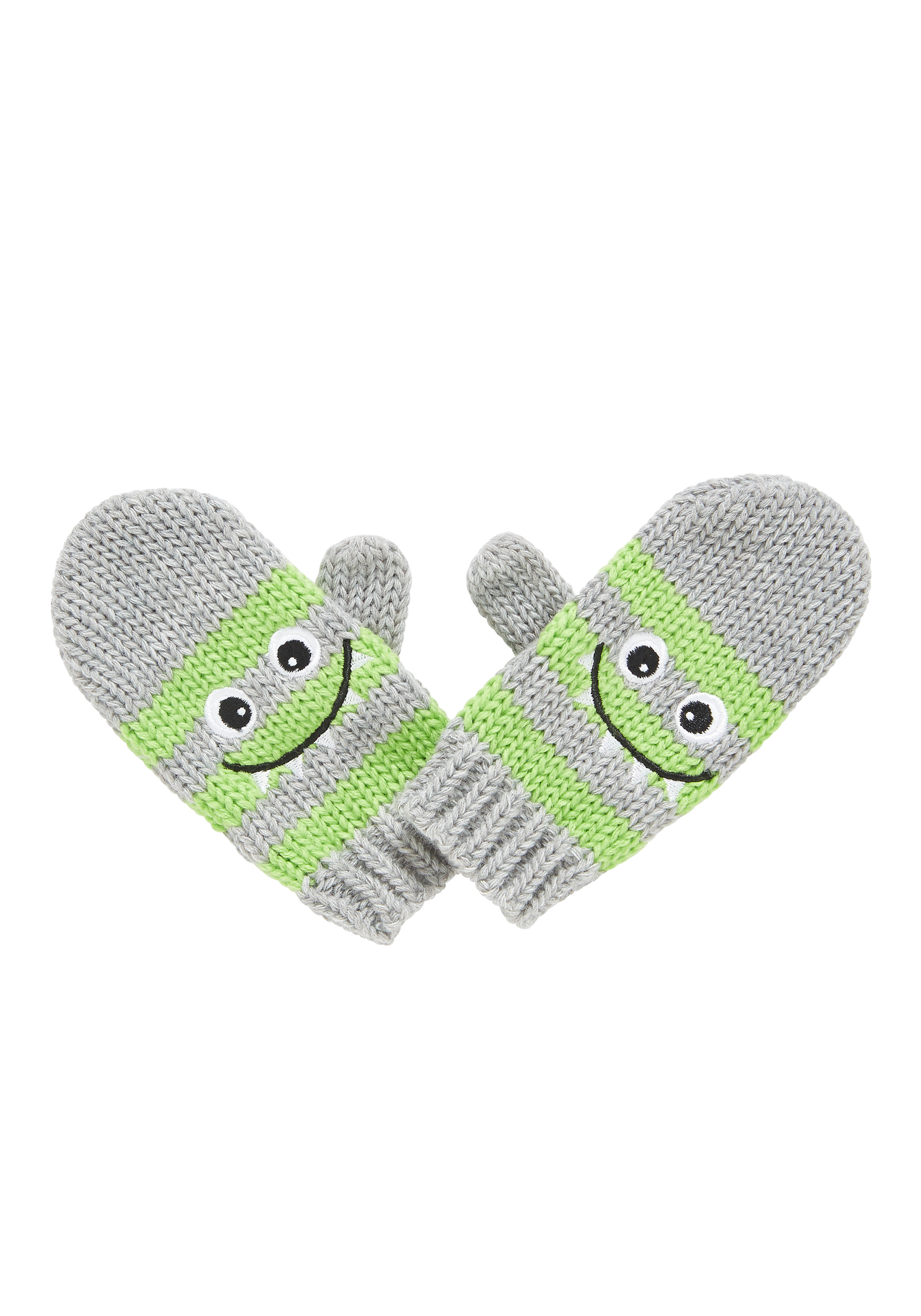 Mothercare   Boys Mittens Monster Print - Grey
