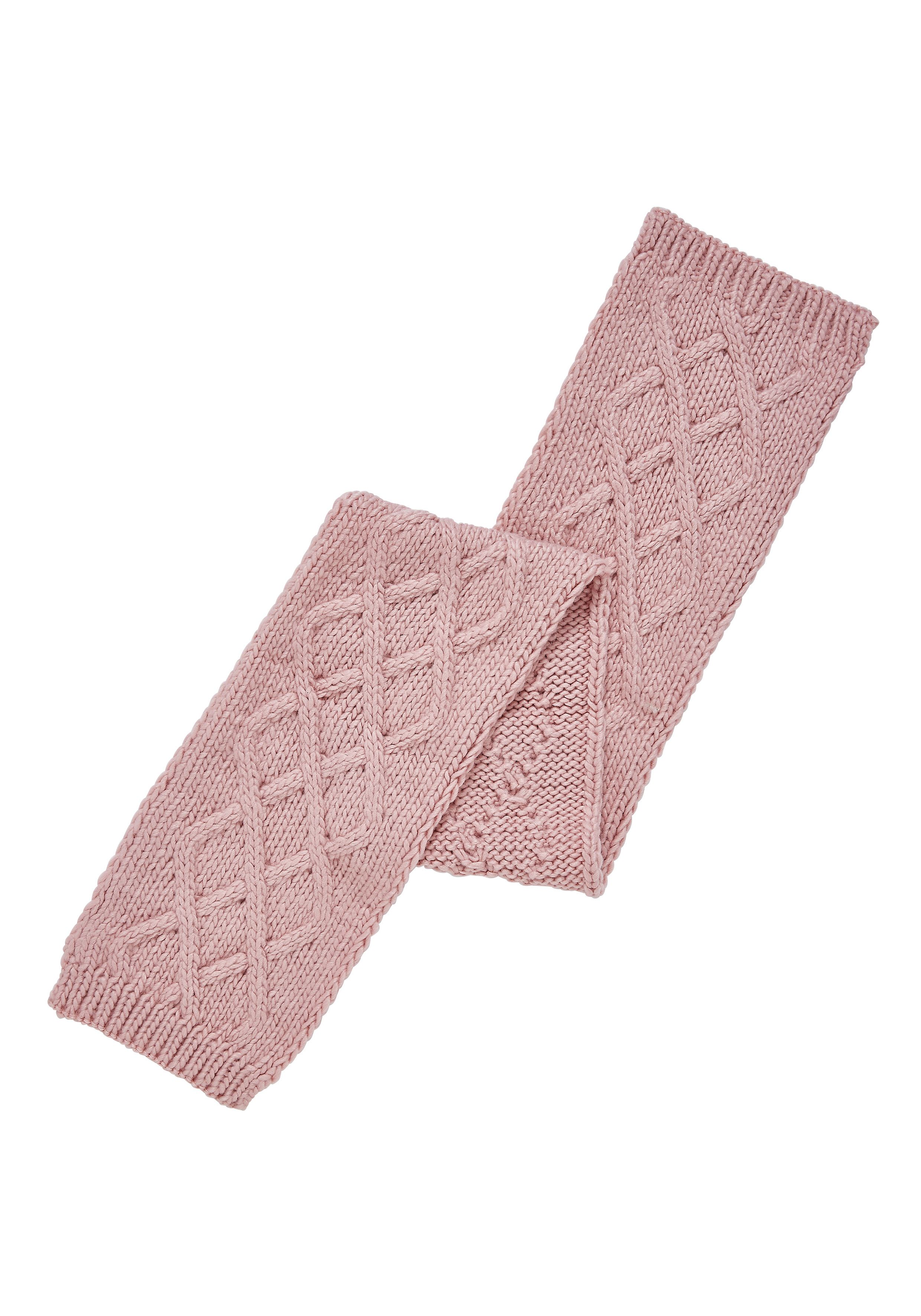 Mothercare | Pink Cable Knit Scarf