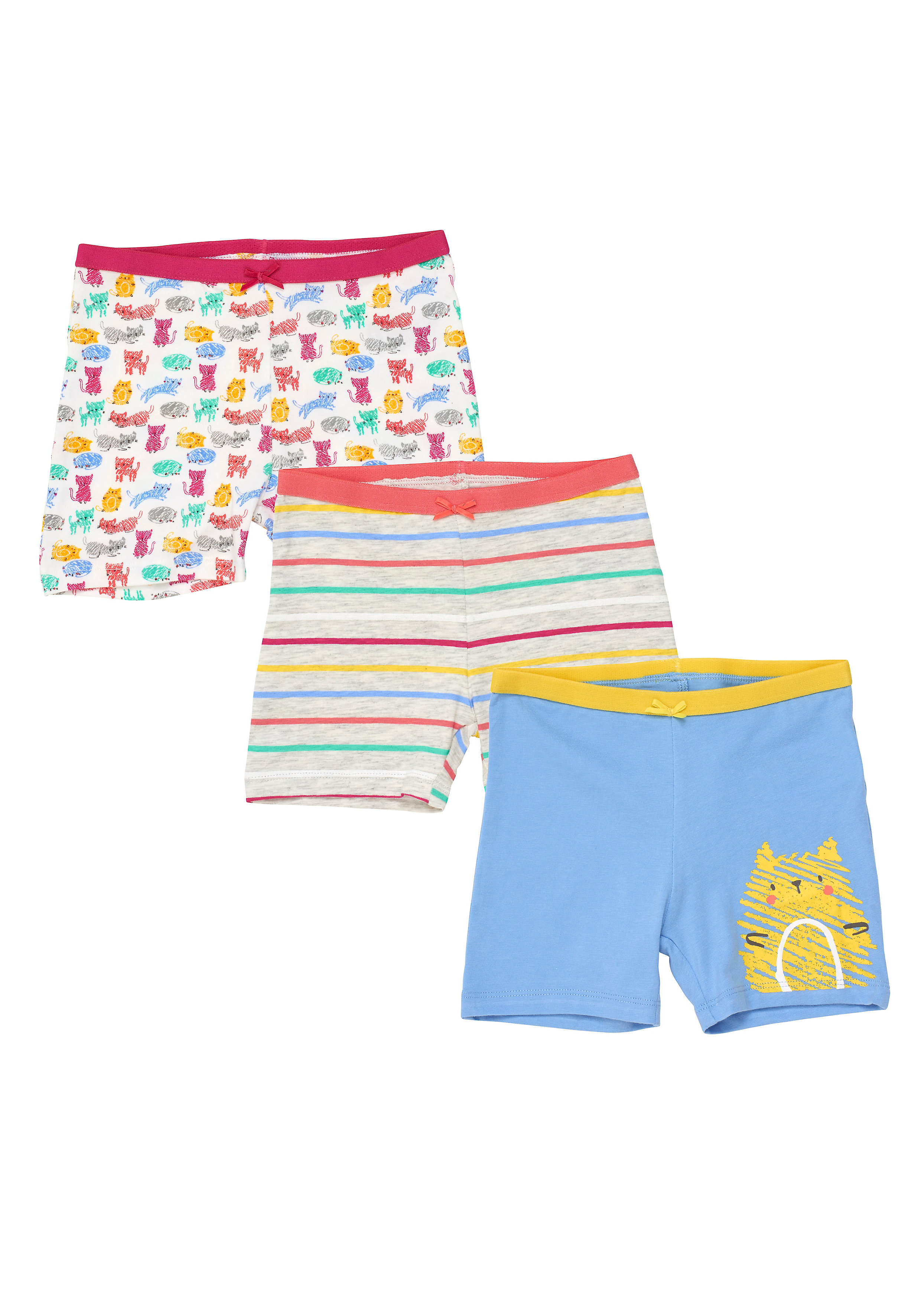 Mothercare | Girls Cat Briefs - 3 Pack - Multicolor