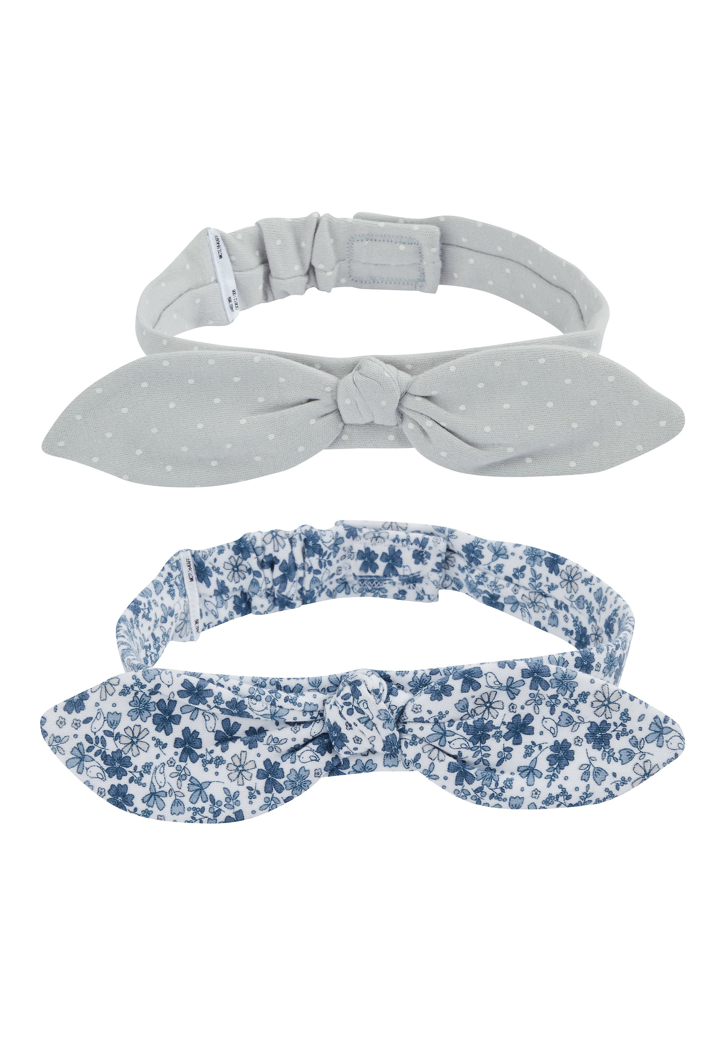 Mothercare | Girls Blue And Grey Hairbands - 2 Pack - Blue
