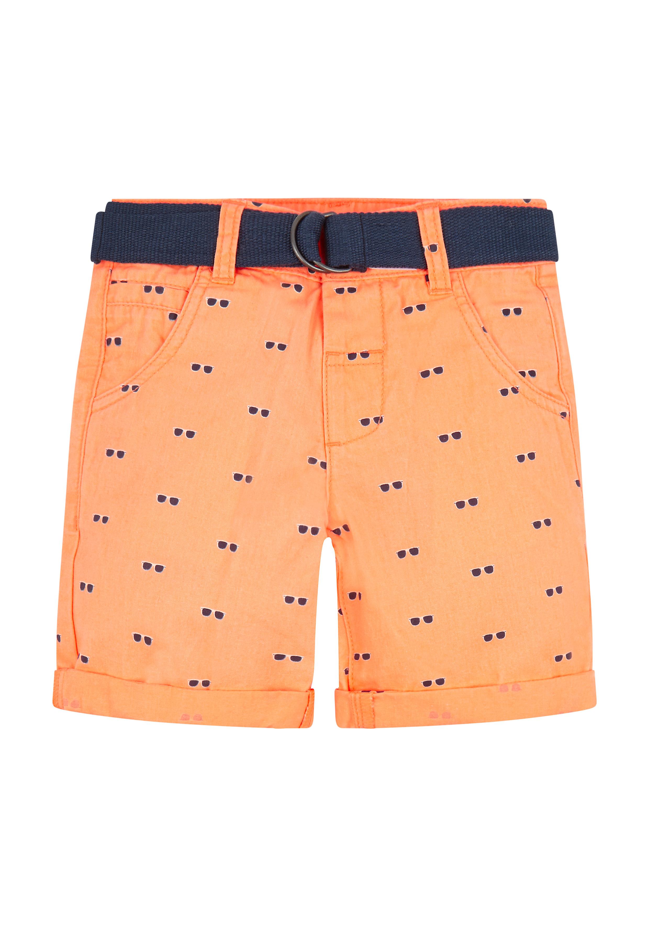 Mothercare   Boys Orange Sunglasses Print Shorts - Orange