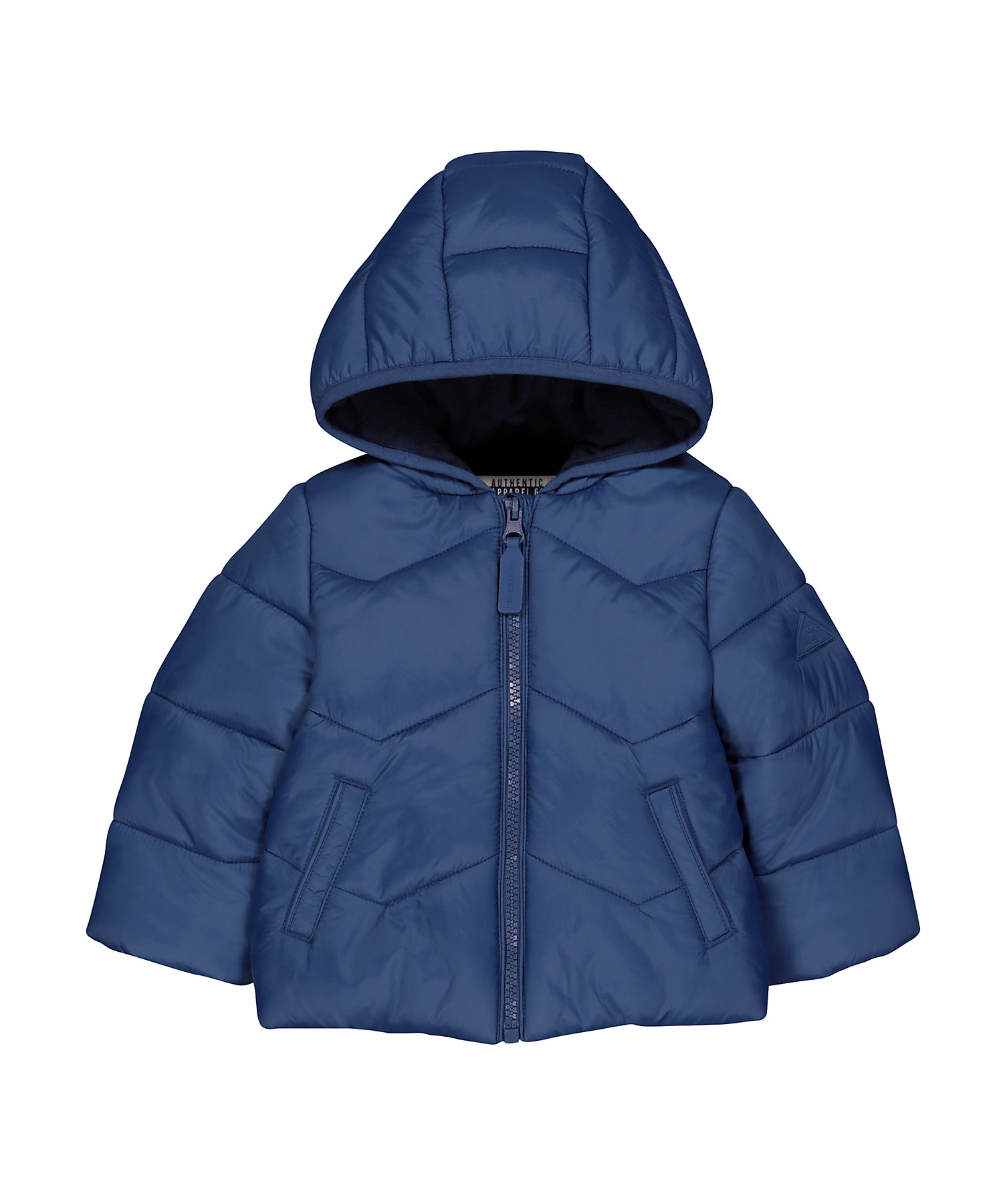 Mothercare   Blue Padded Fleece-Lined Jacket