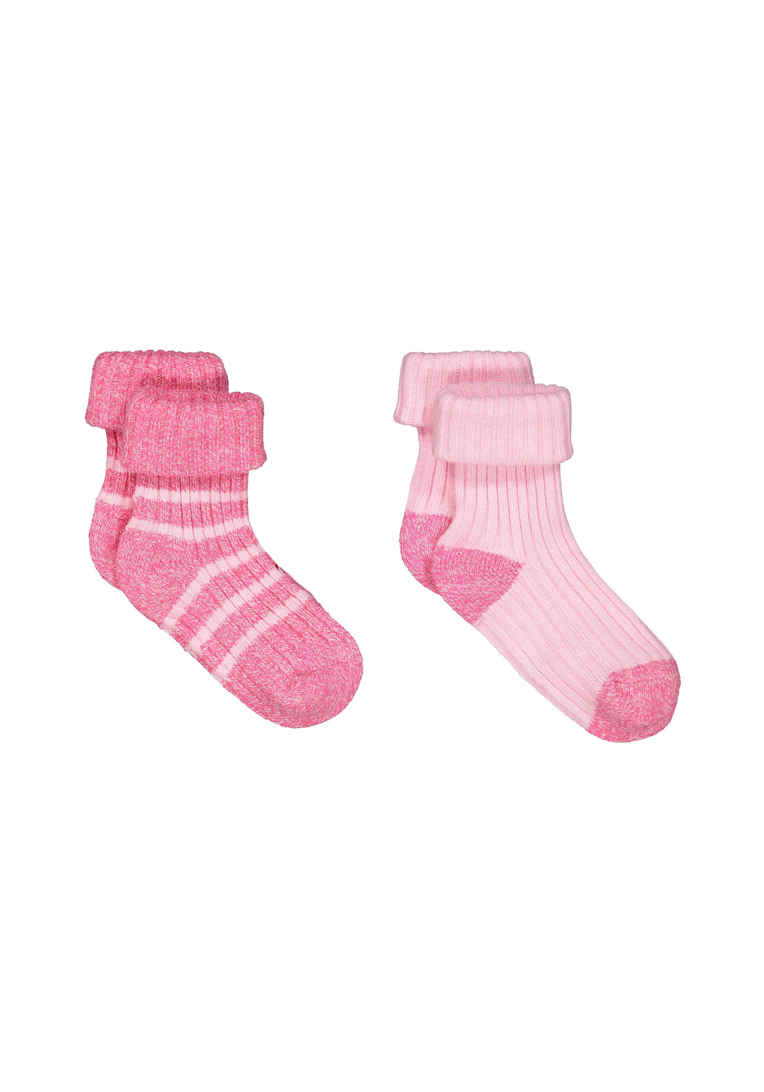 Mothercare | Girls Pink Boot Socks - 2 Pack - Pink