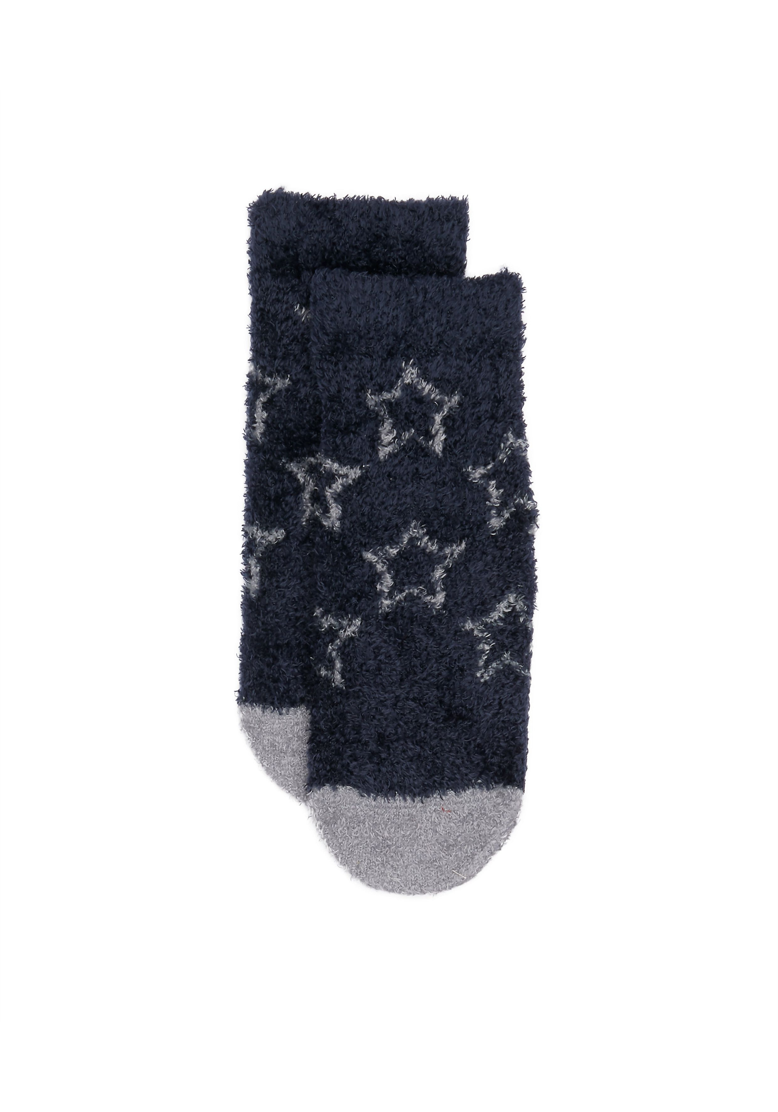 Mothercare | Boys Navy And Grey Star Socks - Navy