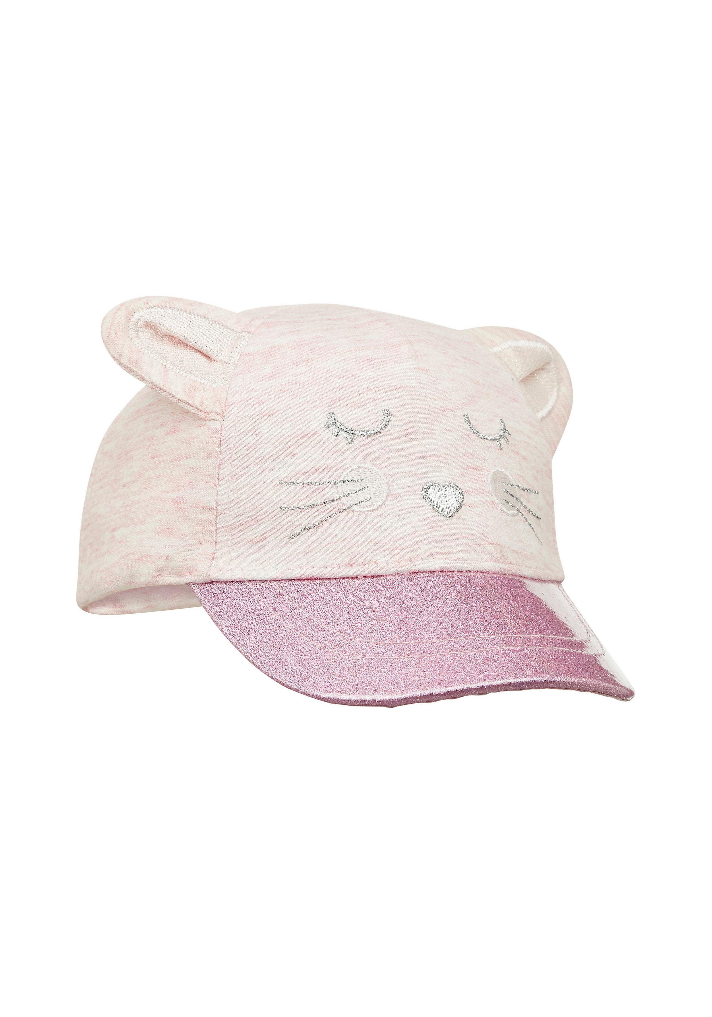 Mothercare   Girls Pink Mouse Glitter Cap - Pink