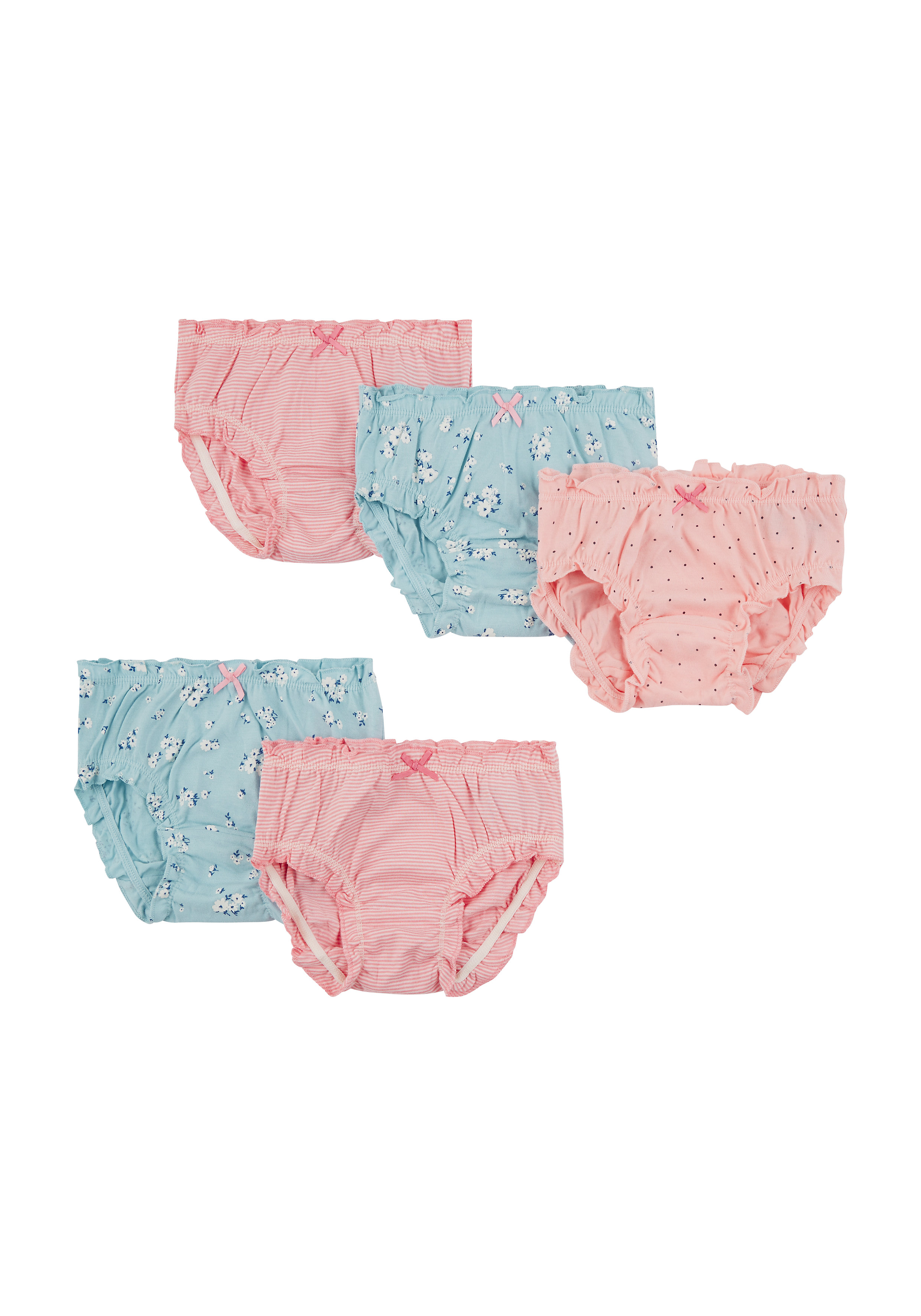 Mothercare   Girls Floral Briefs - 5 Pack - Multicolor