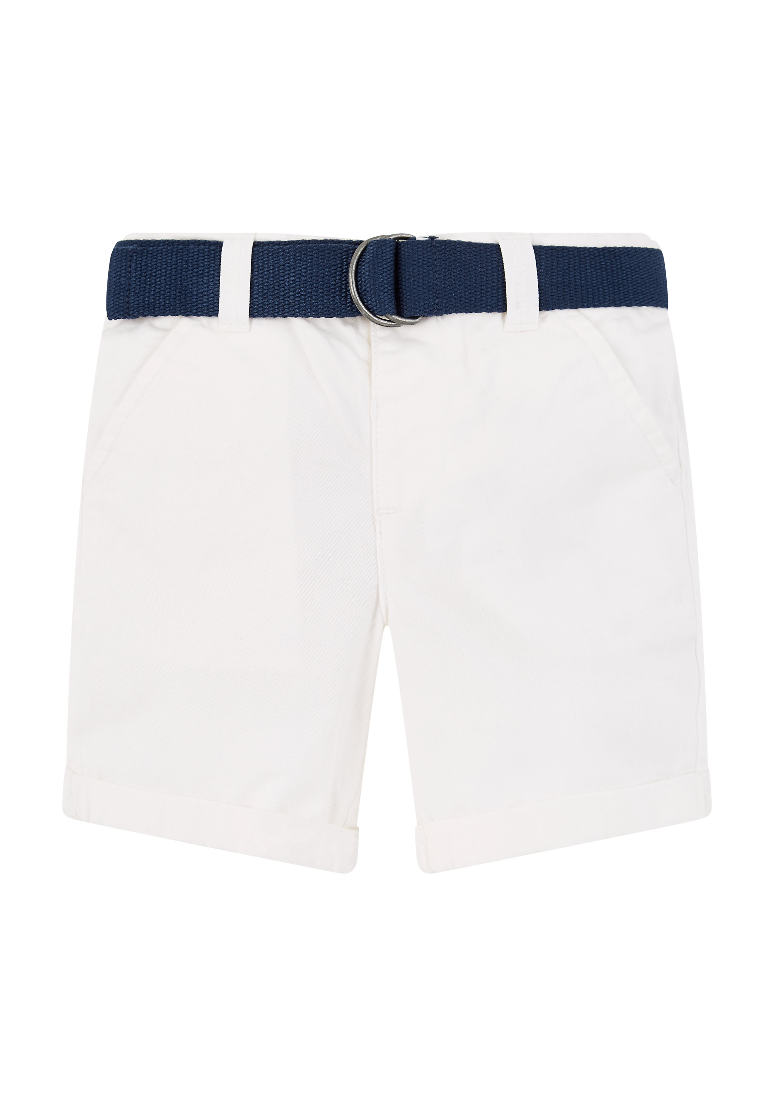 Mothercare | Boys White Shorts With Belt