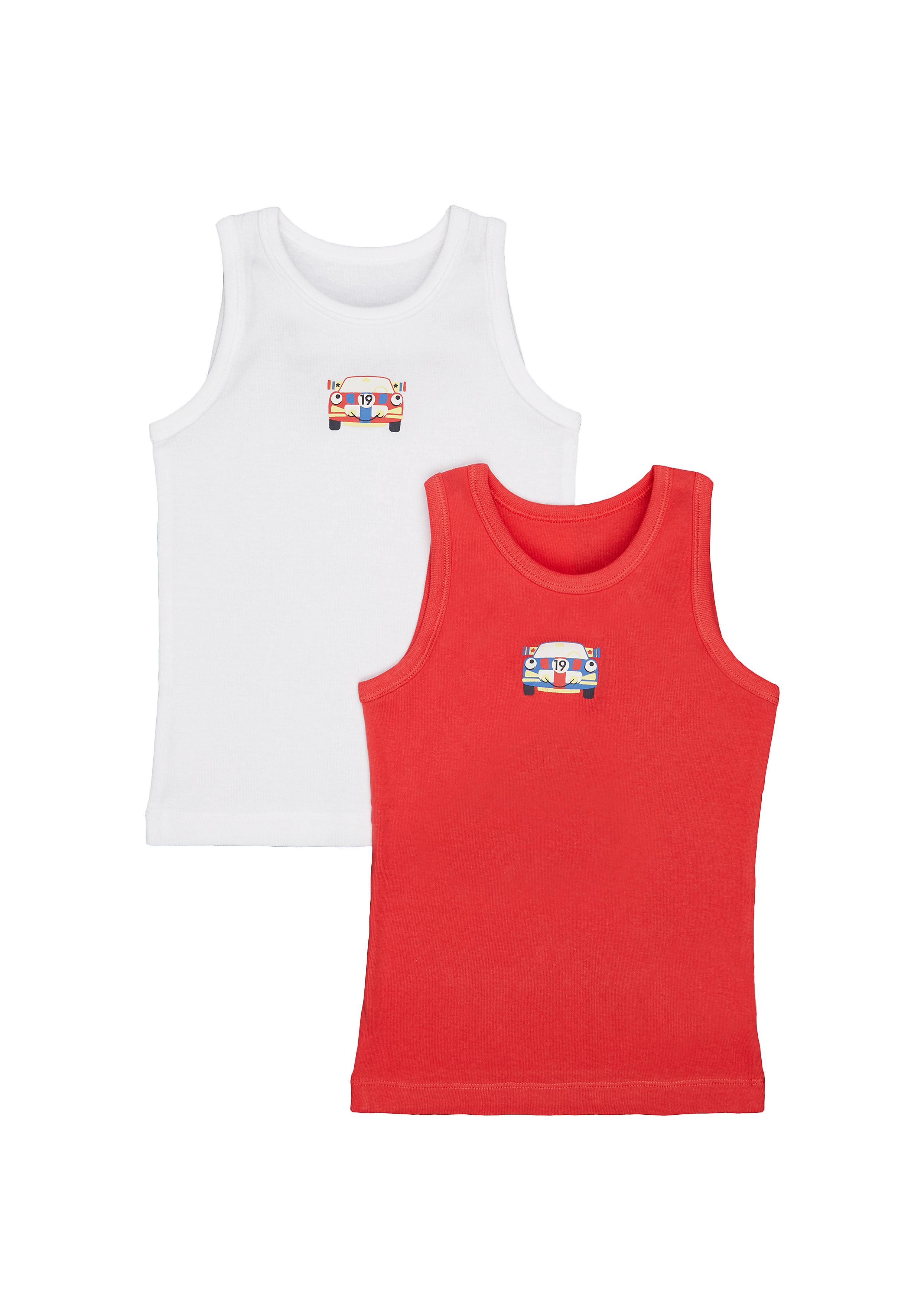 Mothercare | Boys Car Vests - 2 Pack - Multicolor