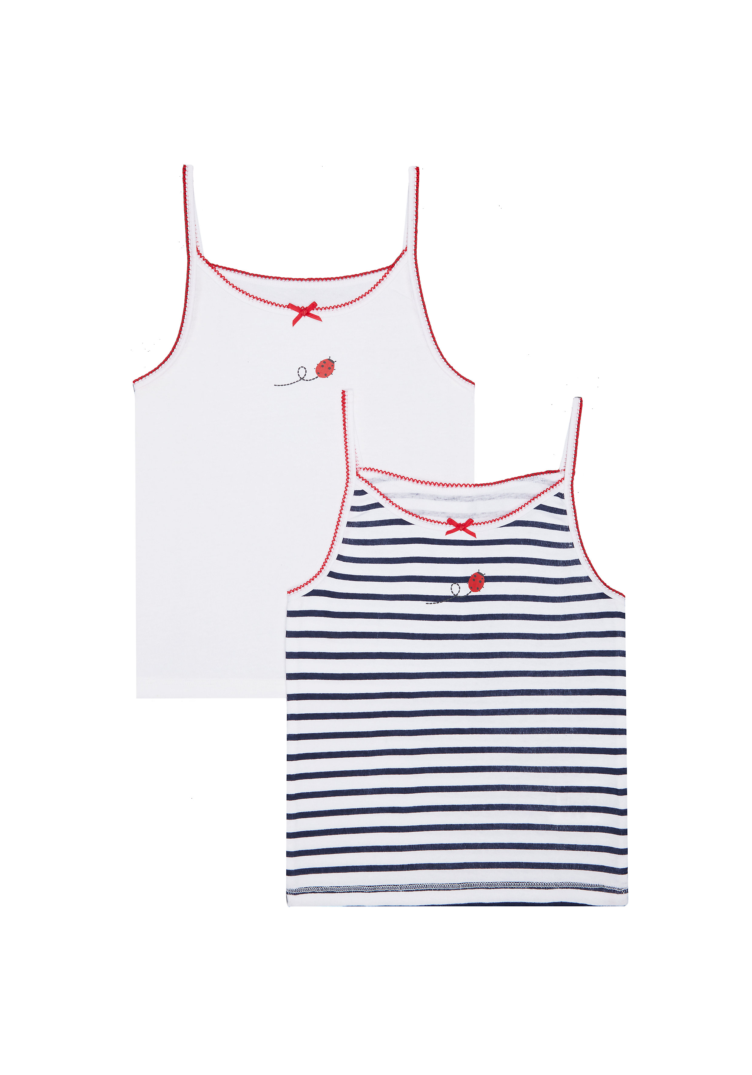 Mothercare | Girls Ladybird Cami Vests - 2 Pack - Multicolor