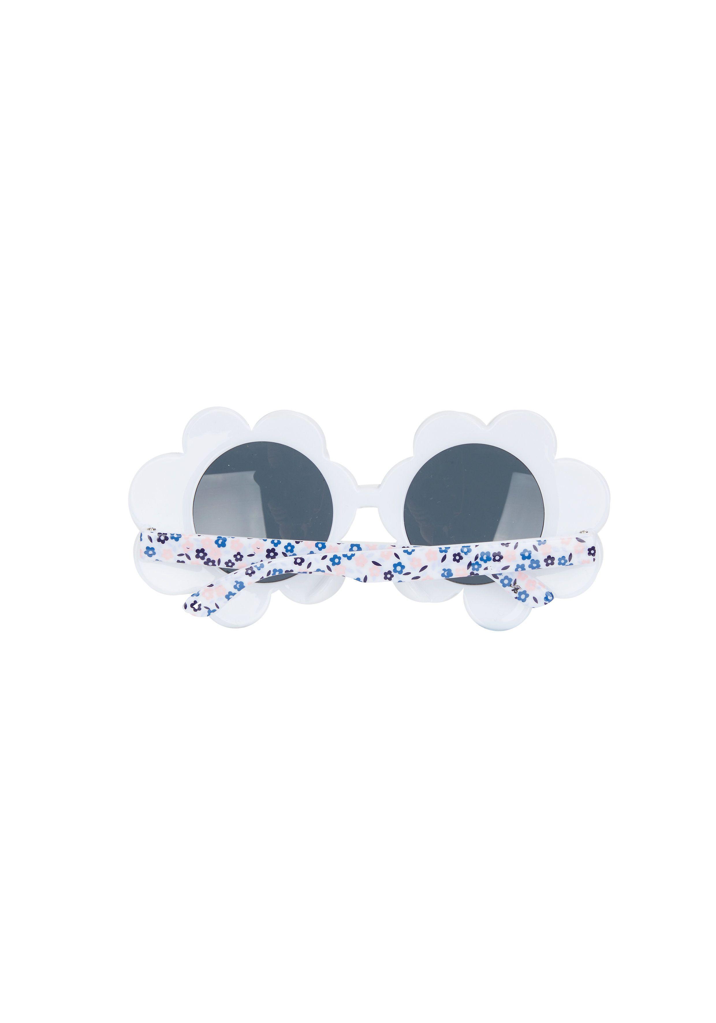 Mothercare | Girls Flower Frame Sunglasses - White