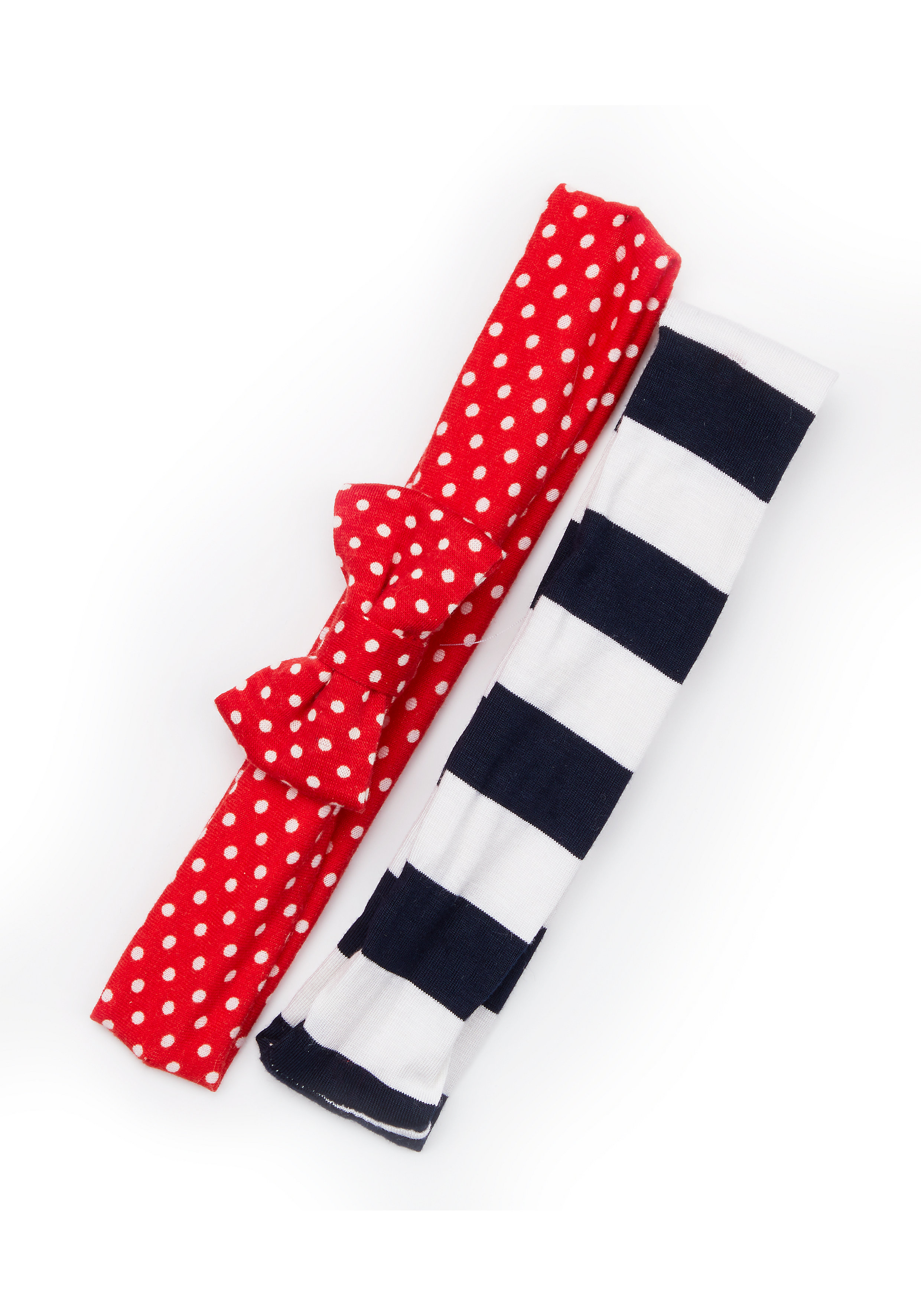 Mothercare | Girls Spot And Stripe Headbands - 2 Pack - Red