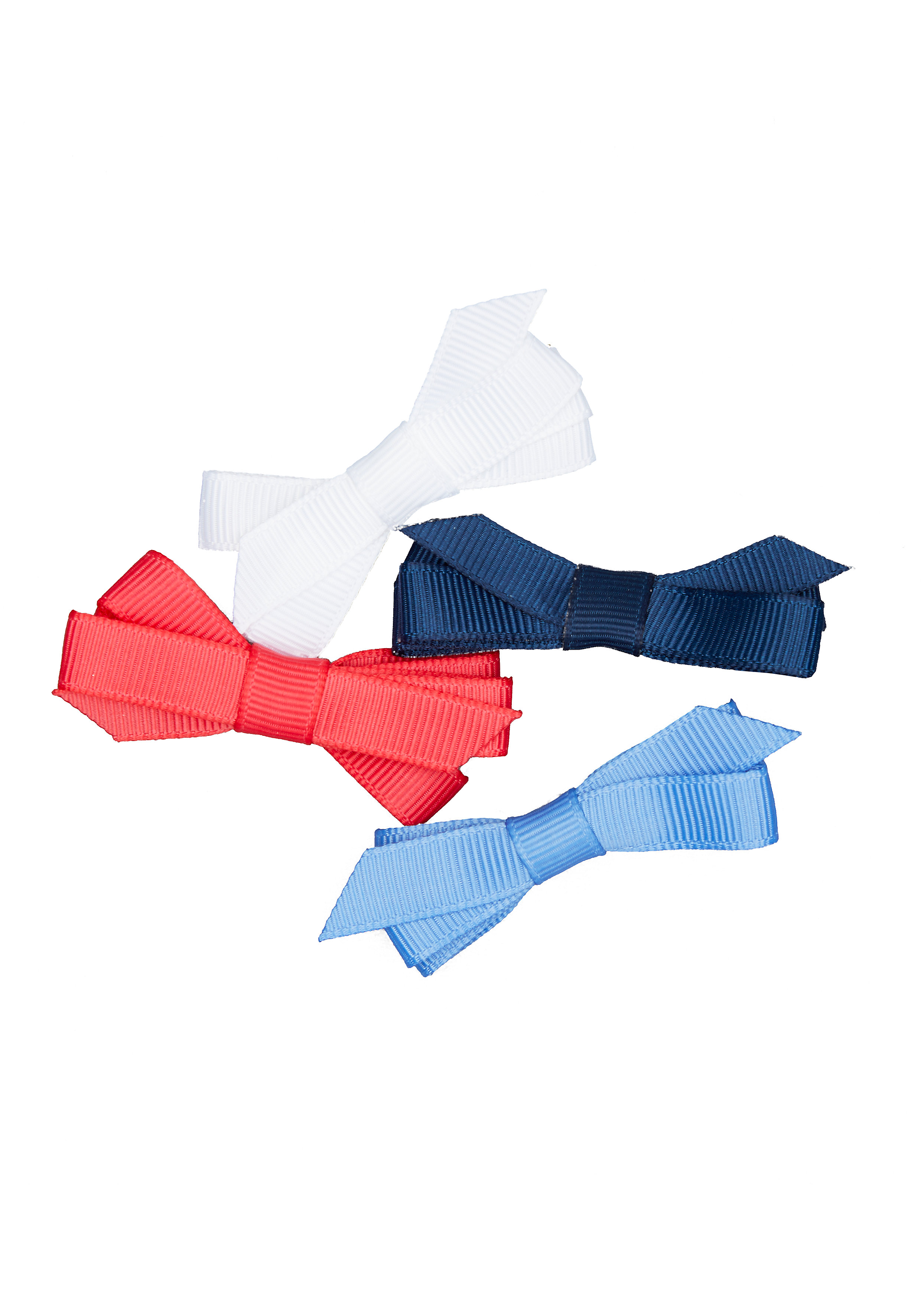 Mothercare | Girls Bow Hair Clips - 4 Pack - Blue