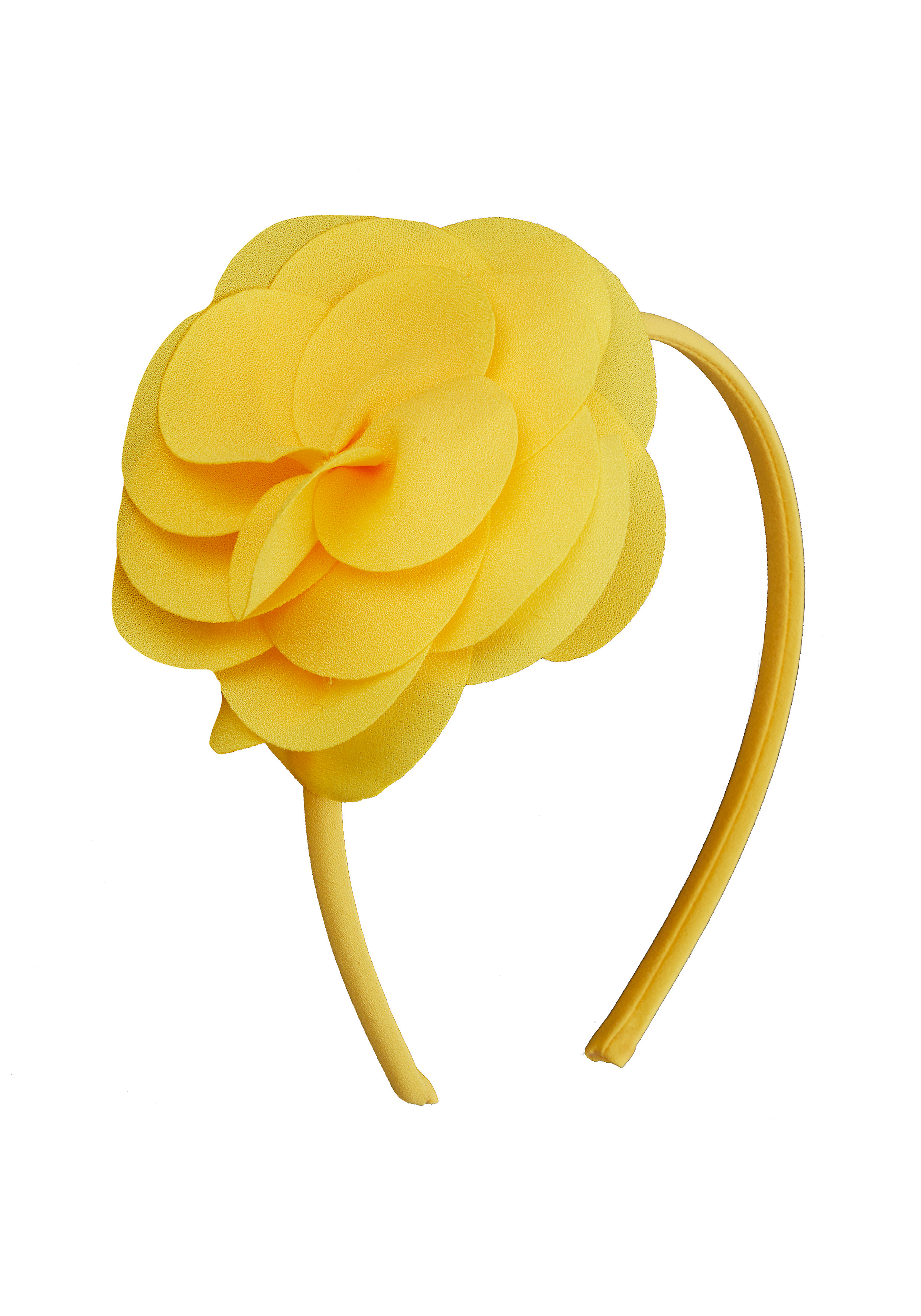 Mothercare | Girls Yellow Corsage Alice Band - Yellow