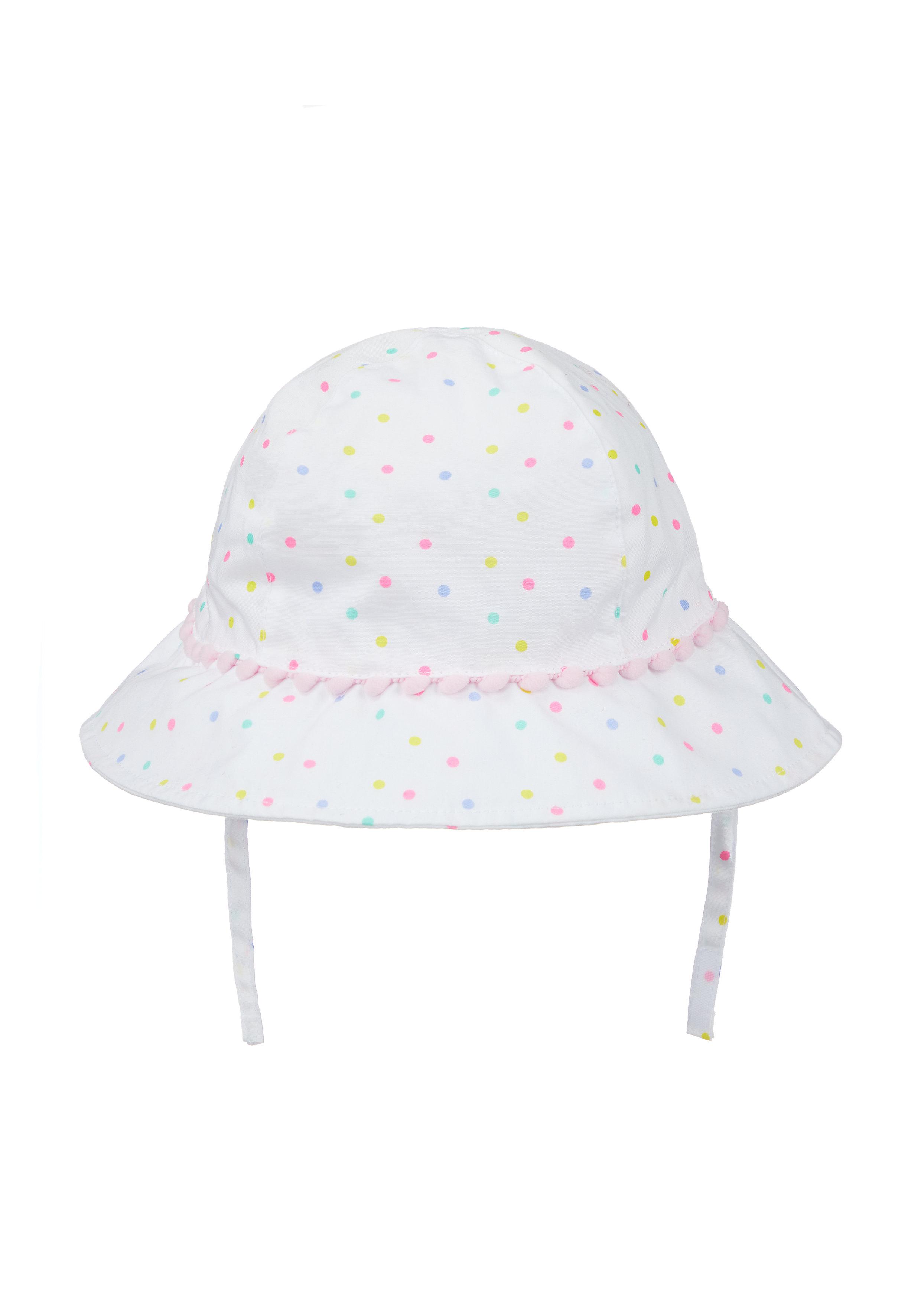 Mothercare   Girls White Neon Spot Sun Hat - Multicolor