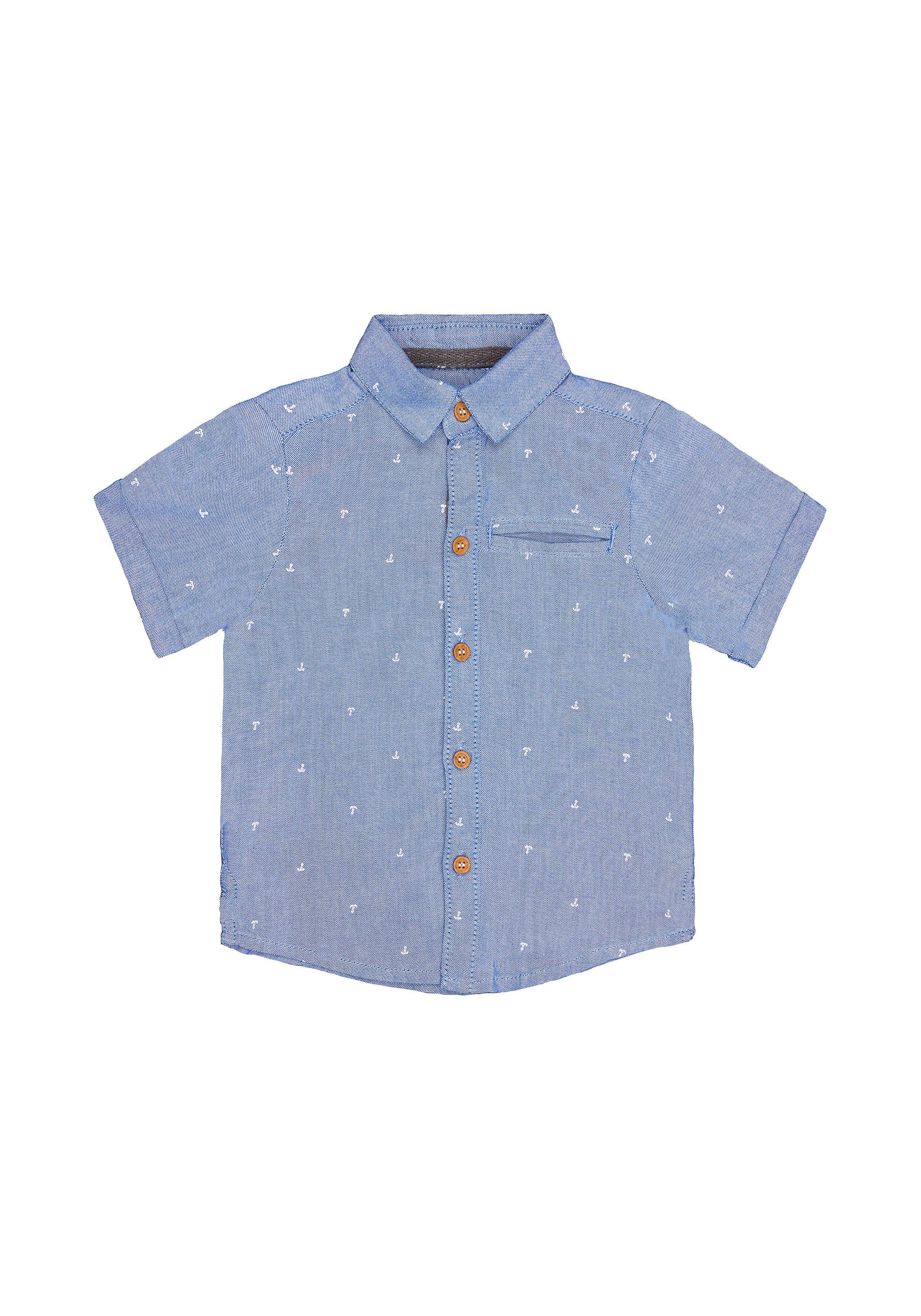 Mothercare | Boys Blue Anchor Oxford Shirt - Blue