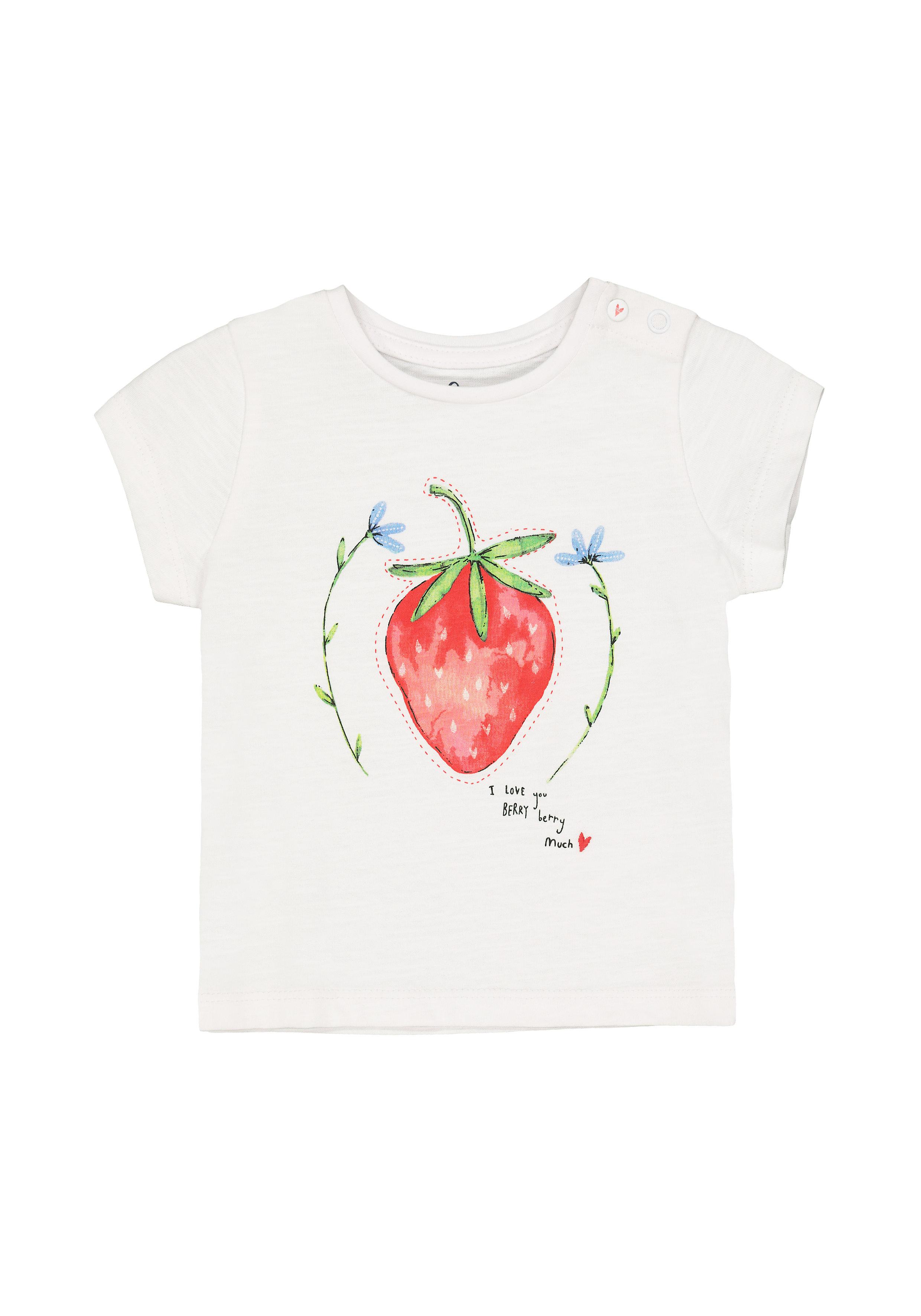 Mothercare | Girls White Strawberry T-Shirt - White