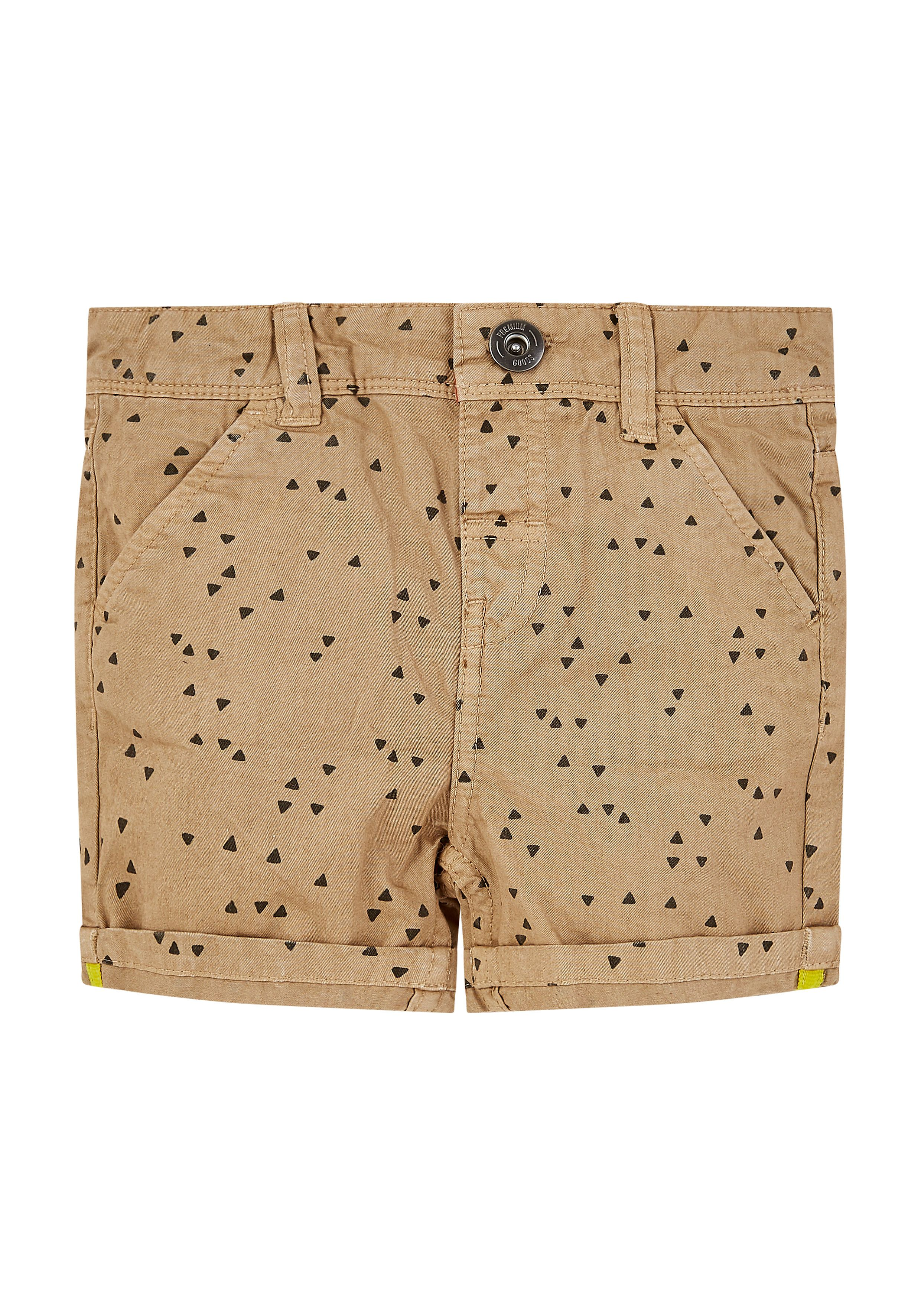 Mothercare | Boys Shorts Geometrical Print With Roll Up - Khaki - Beige