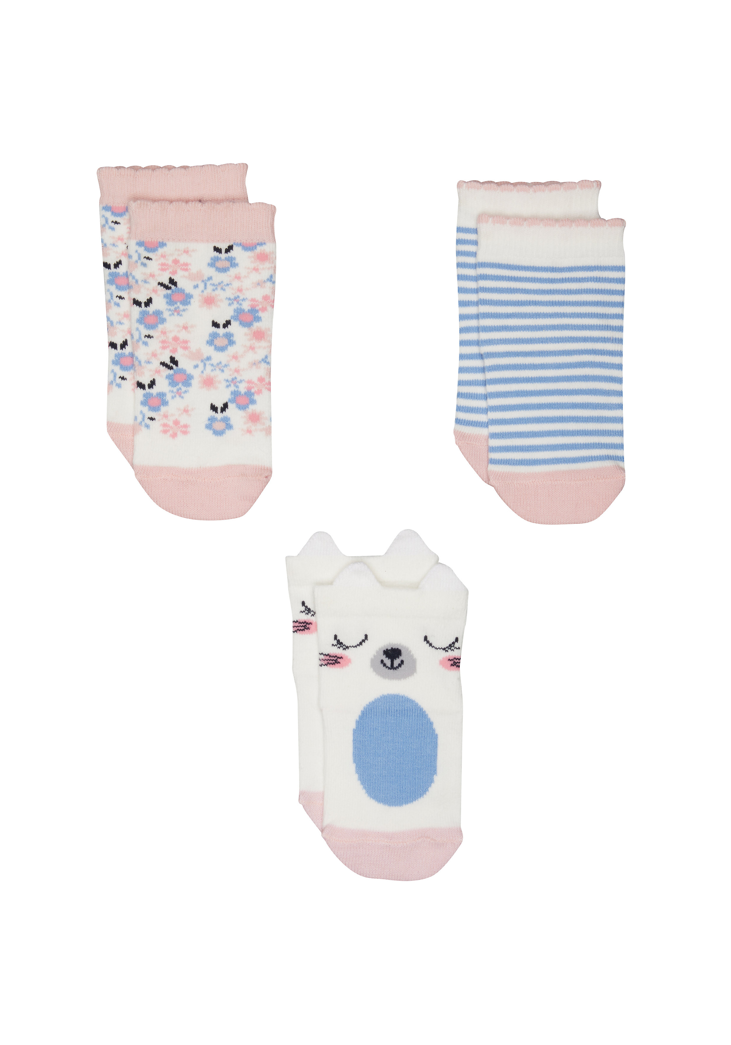 Mothercare | Girls Bunny Socks - 3 Pack - Multicolor