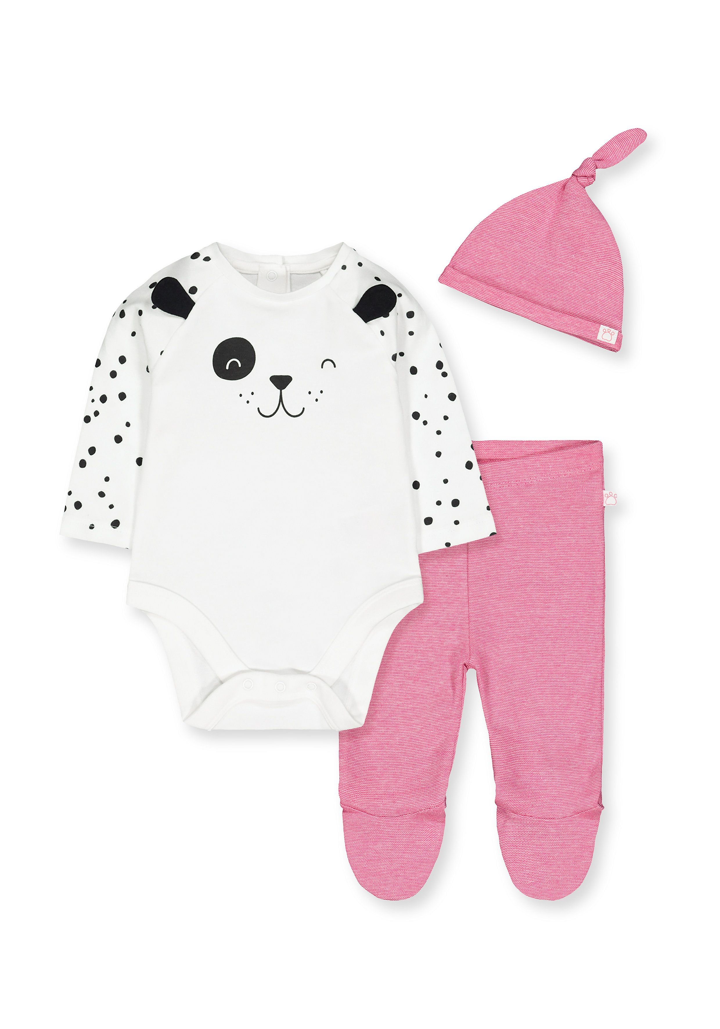 Mothercare | White and Pink Printed Twin Set