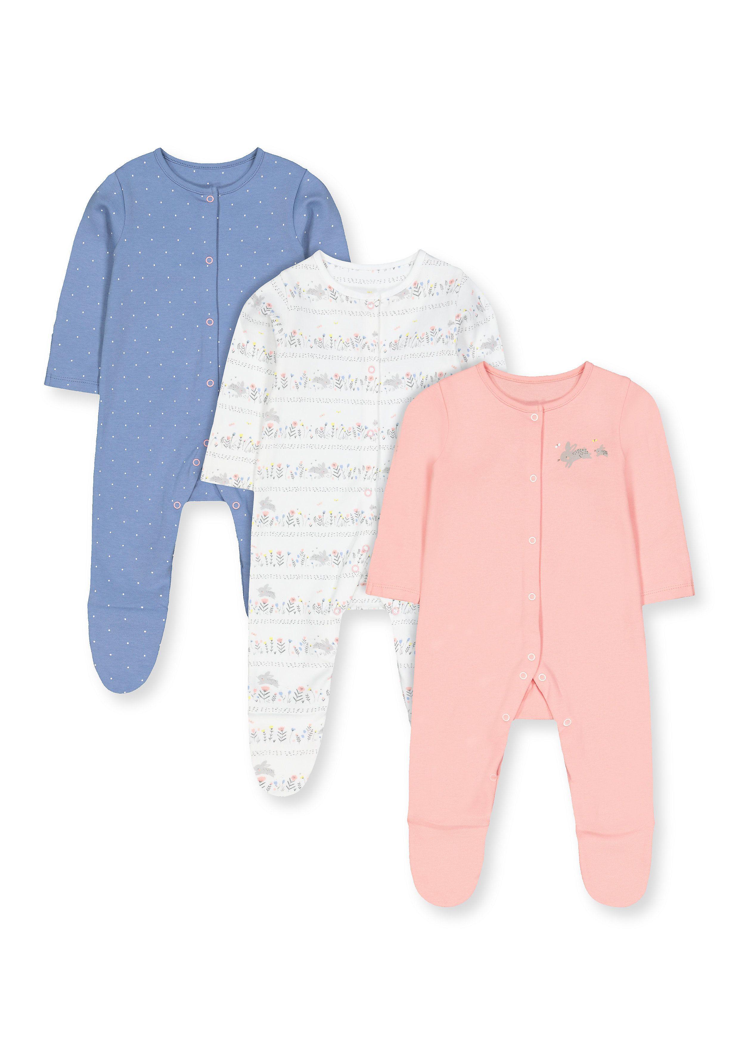 Mothercare | Multicoloured Printed Sleepwear Dresses (Pack of 3)