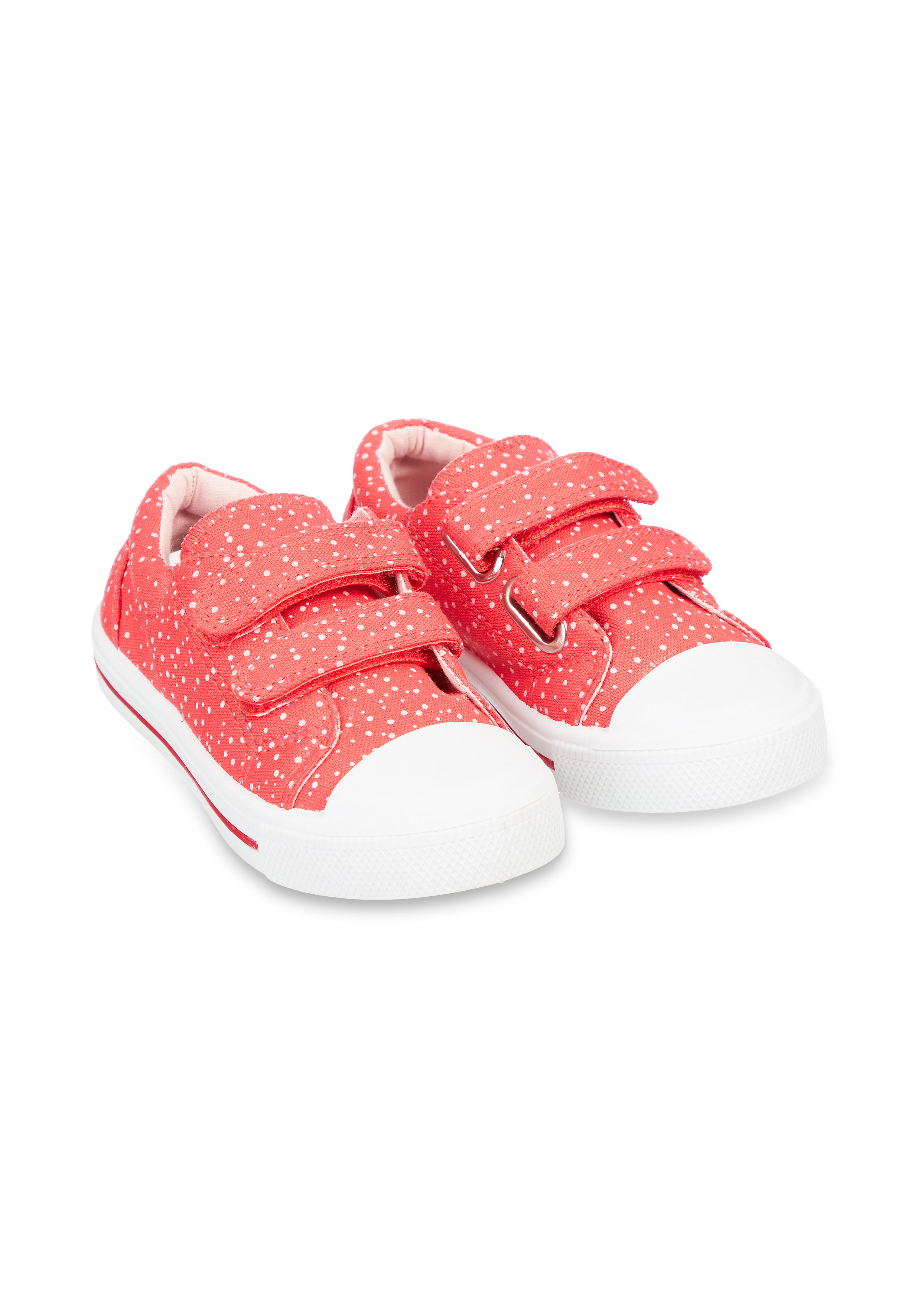 Mothercare | Back To Nursery Red Spot Canvas Trainers